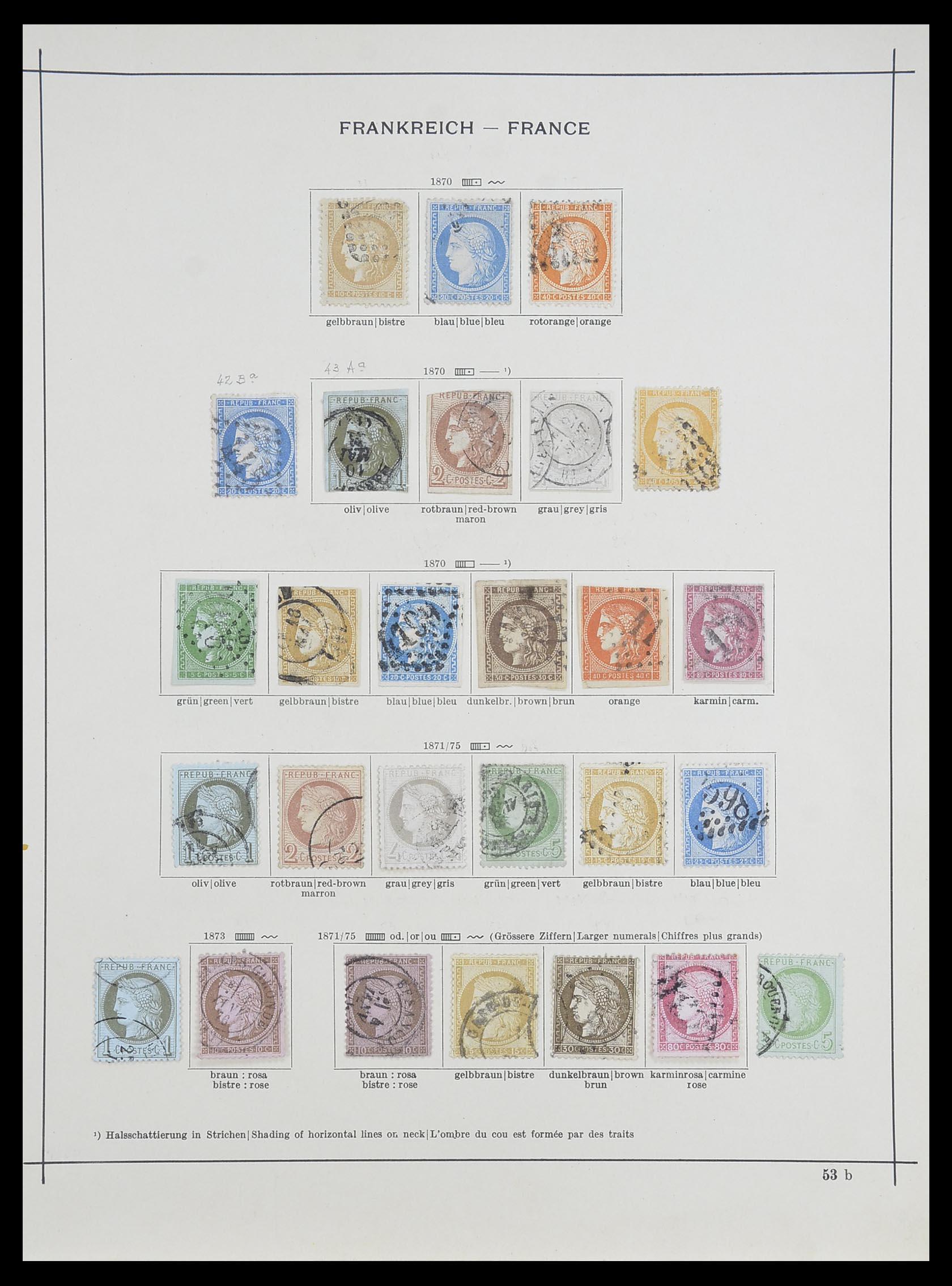 33919 003 - Postzegelverzameling 33919 Frankrijk 1849-1946.
