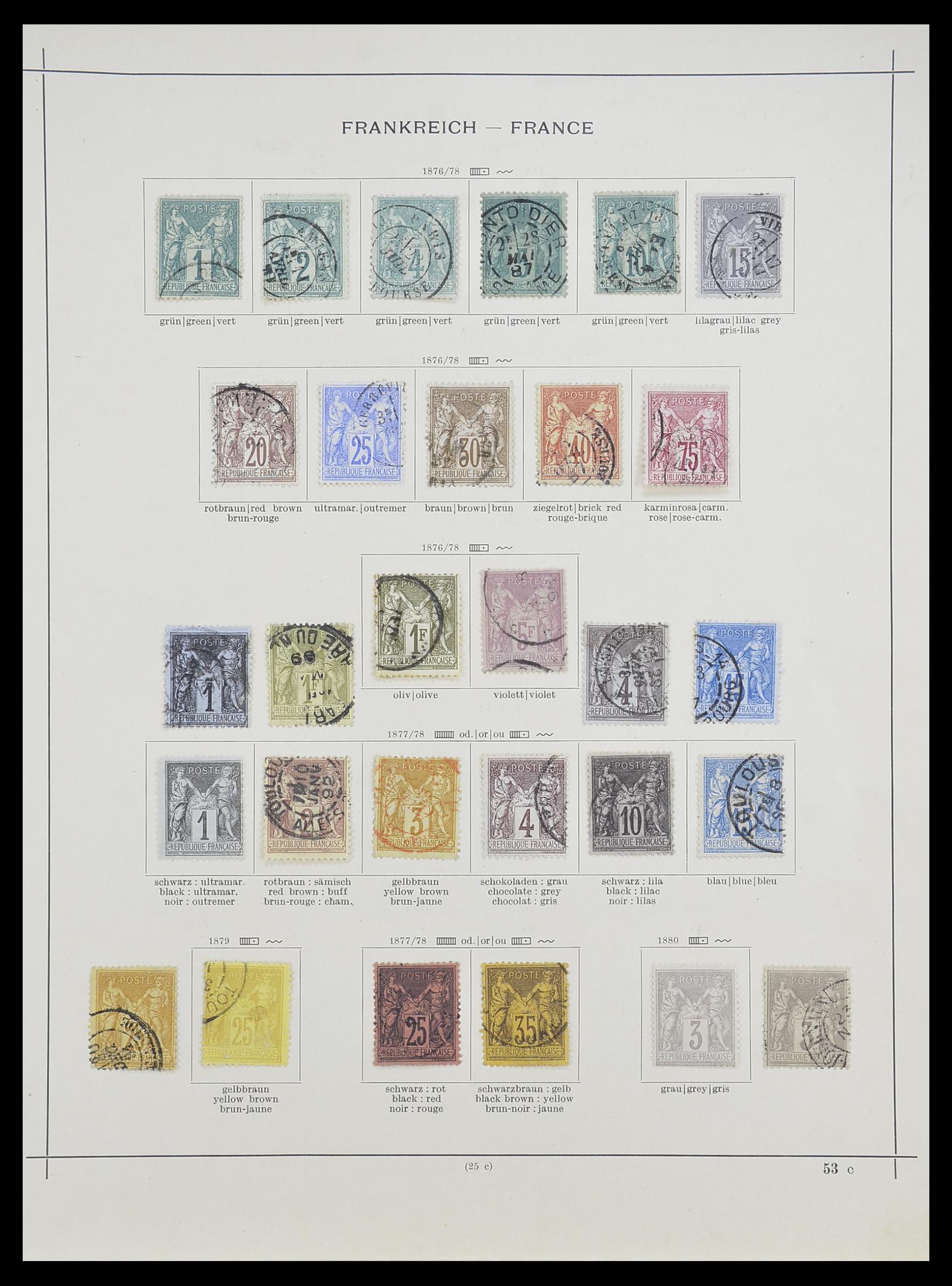 33919 004 - Postzegelverzameling 33919 Frankrijk 1849-1946.