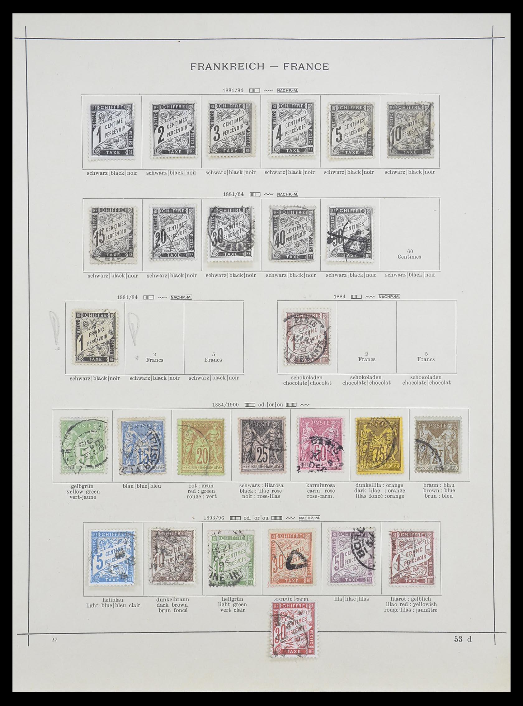 33919 005 - Postzegelverzameling 33919 Frankrijk 1849-1946.