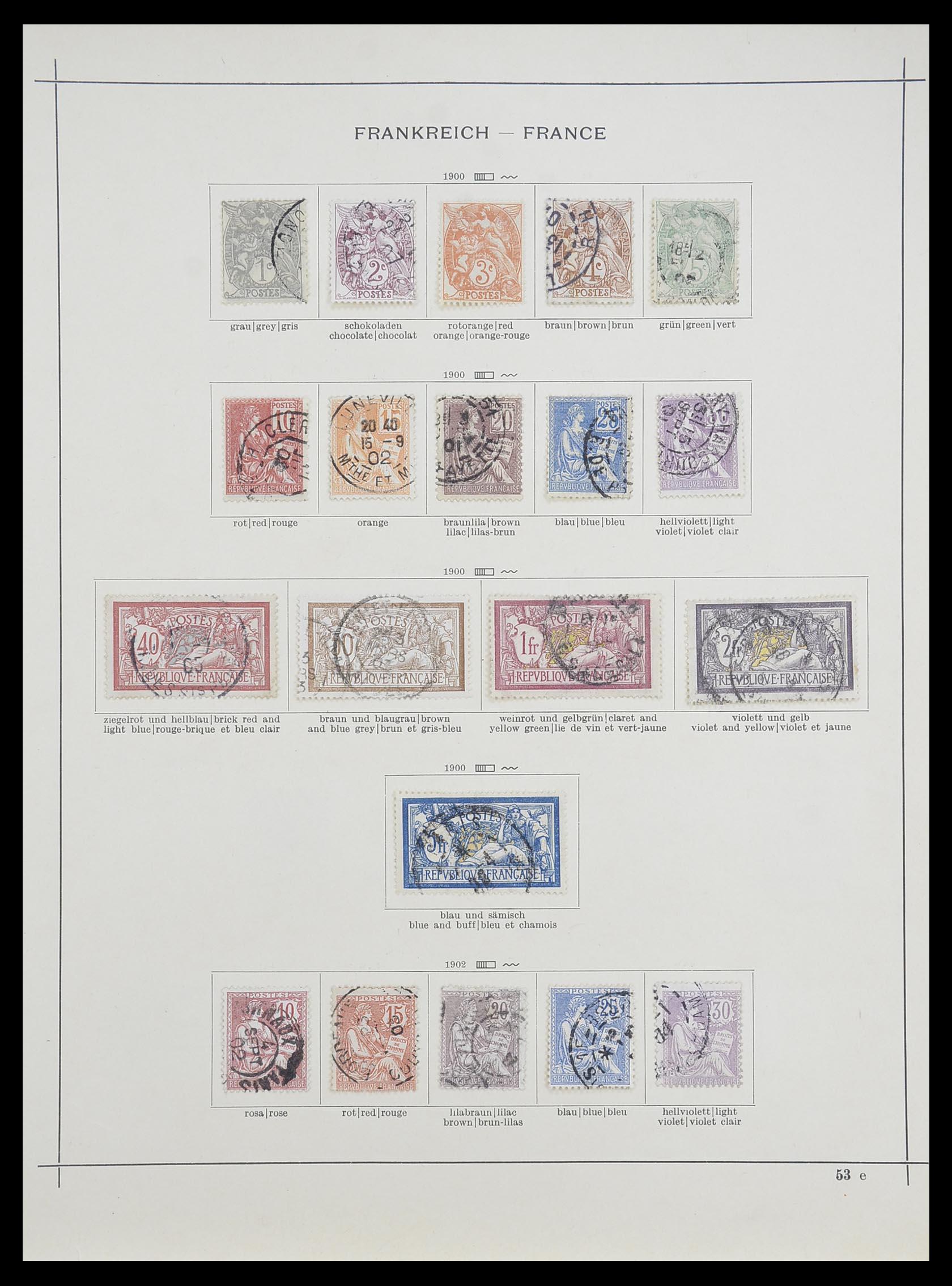 33919 006 - Postzegelverzameling 33919 Frankrijk 1849-1946.
