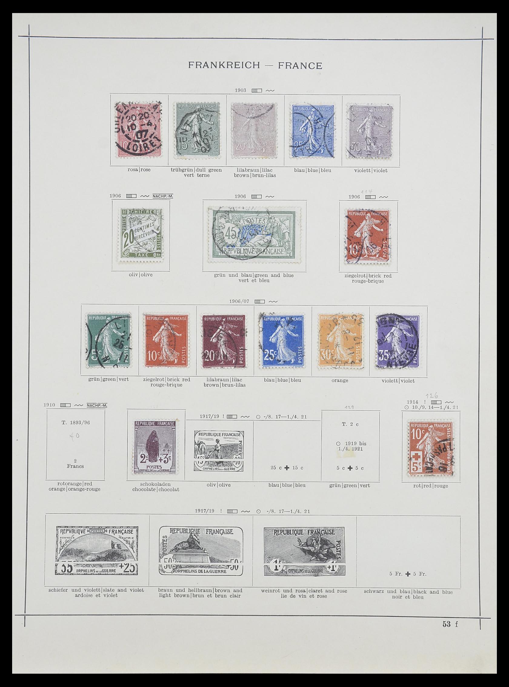 33919 007 - Postzegelverzameling 33919 Frankrijk 1849-1946.