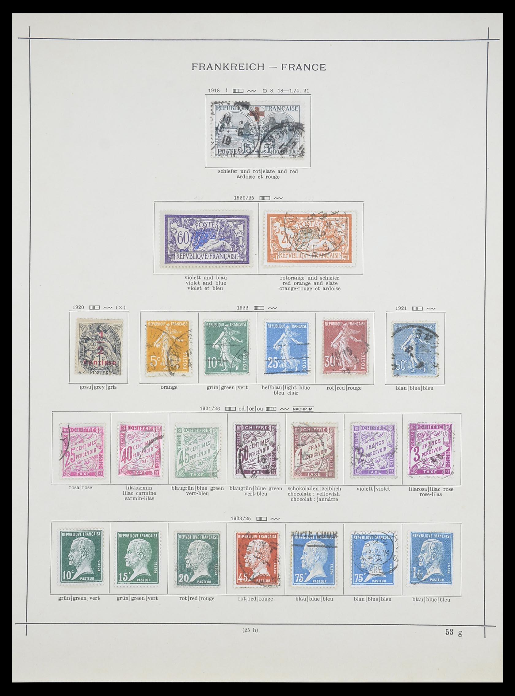 33919 008 - Postzegelverzameling 33919 Frankrijk 1849-1946.
