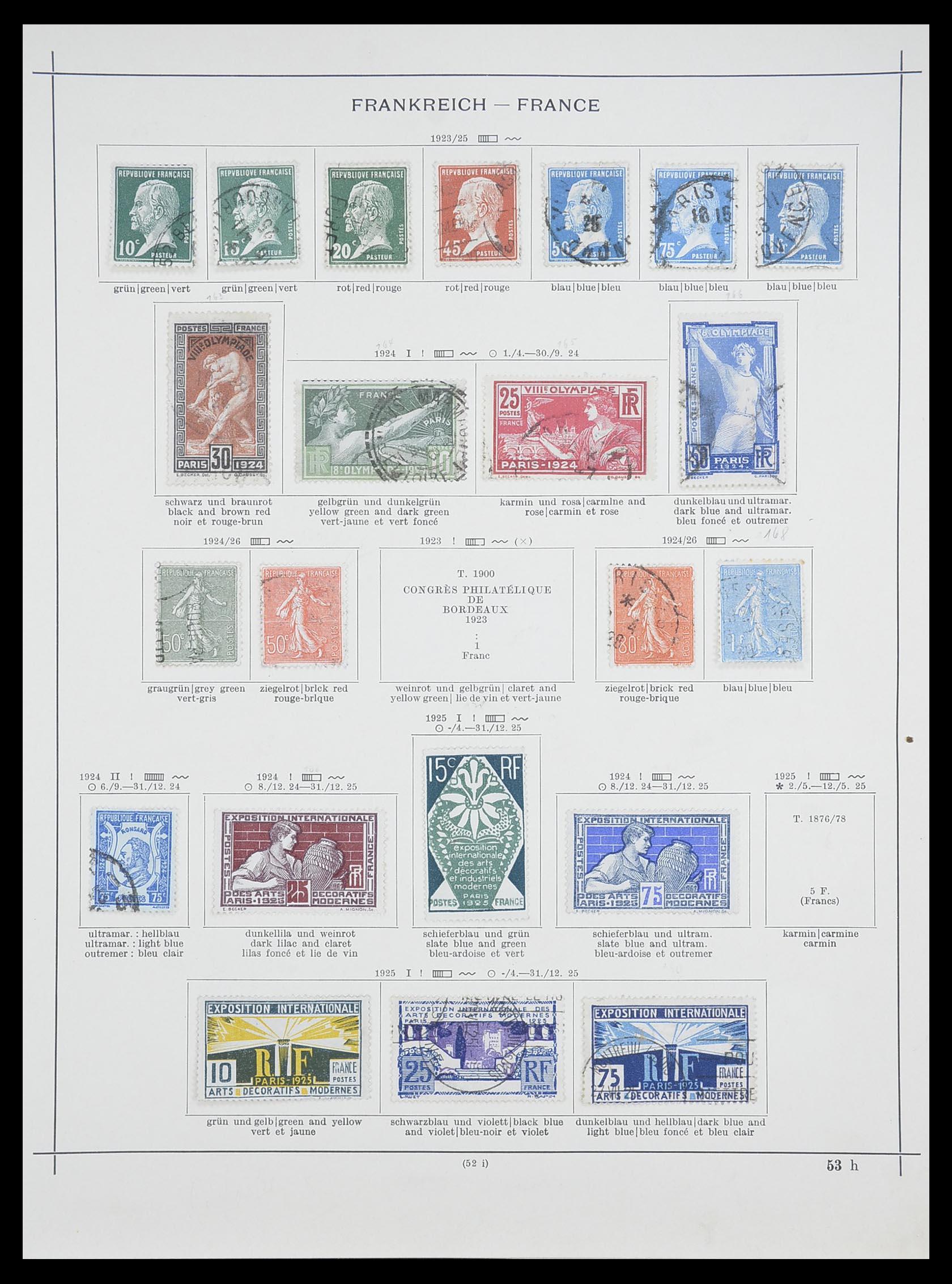 33919 009 - Postzegelverzameling 33919 Frankrijk 1849-1946.