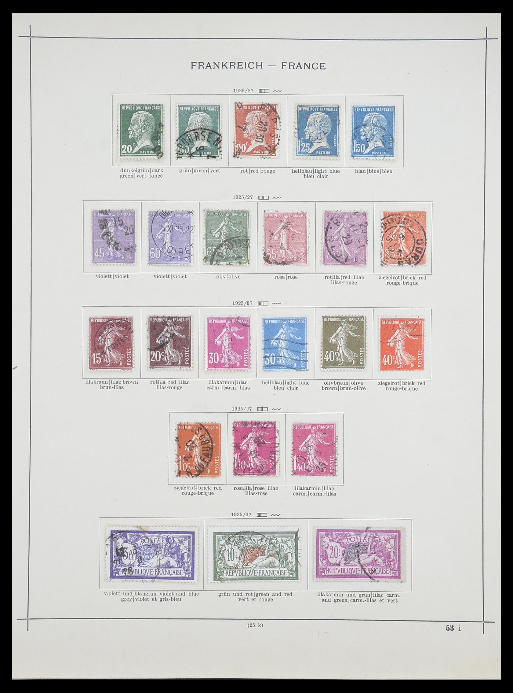 33919 010 - Postzegelverzameling 33919 Frankrijk 1849-1946.