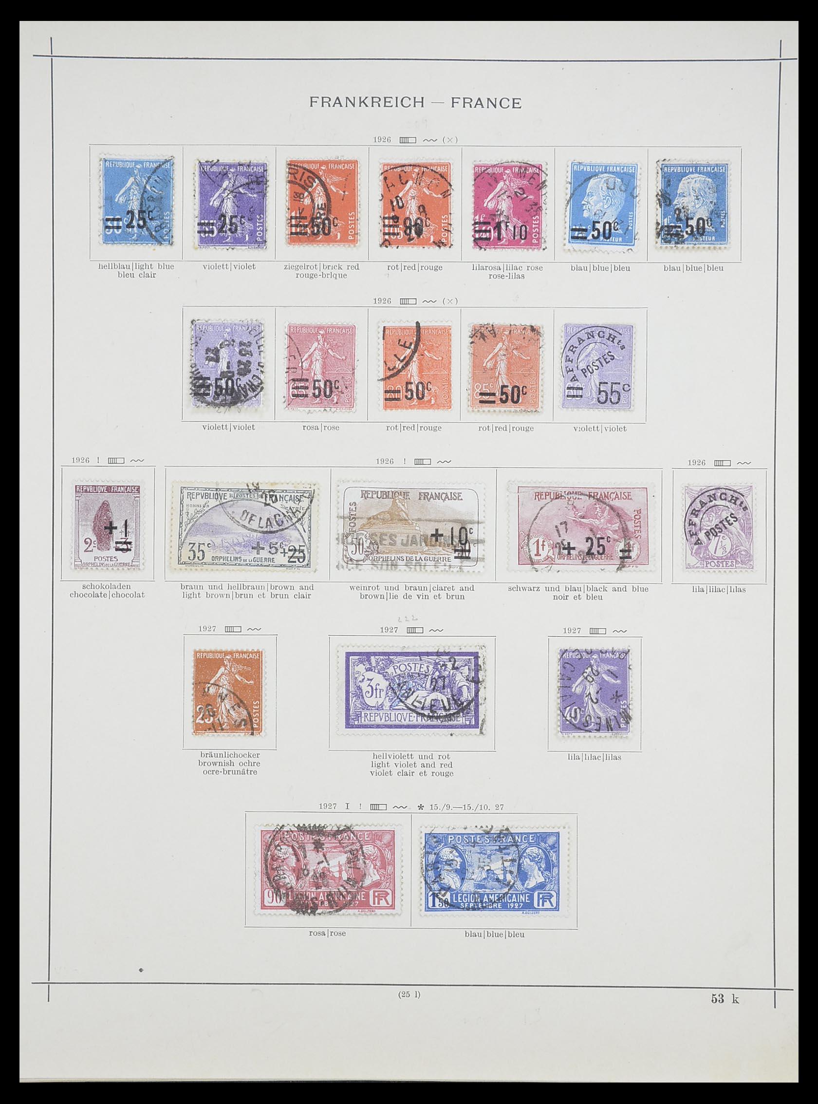 33919 011 - Postzegelverzameling 33919 Frankrijk 1849-1946.