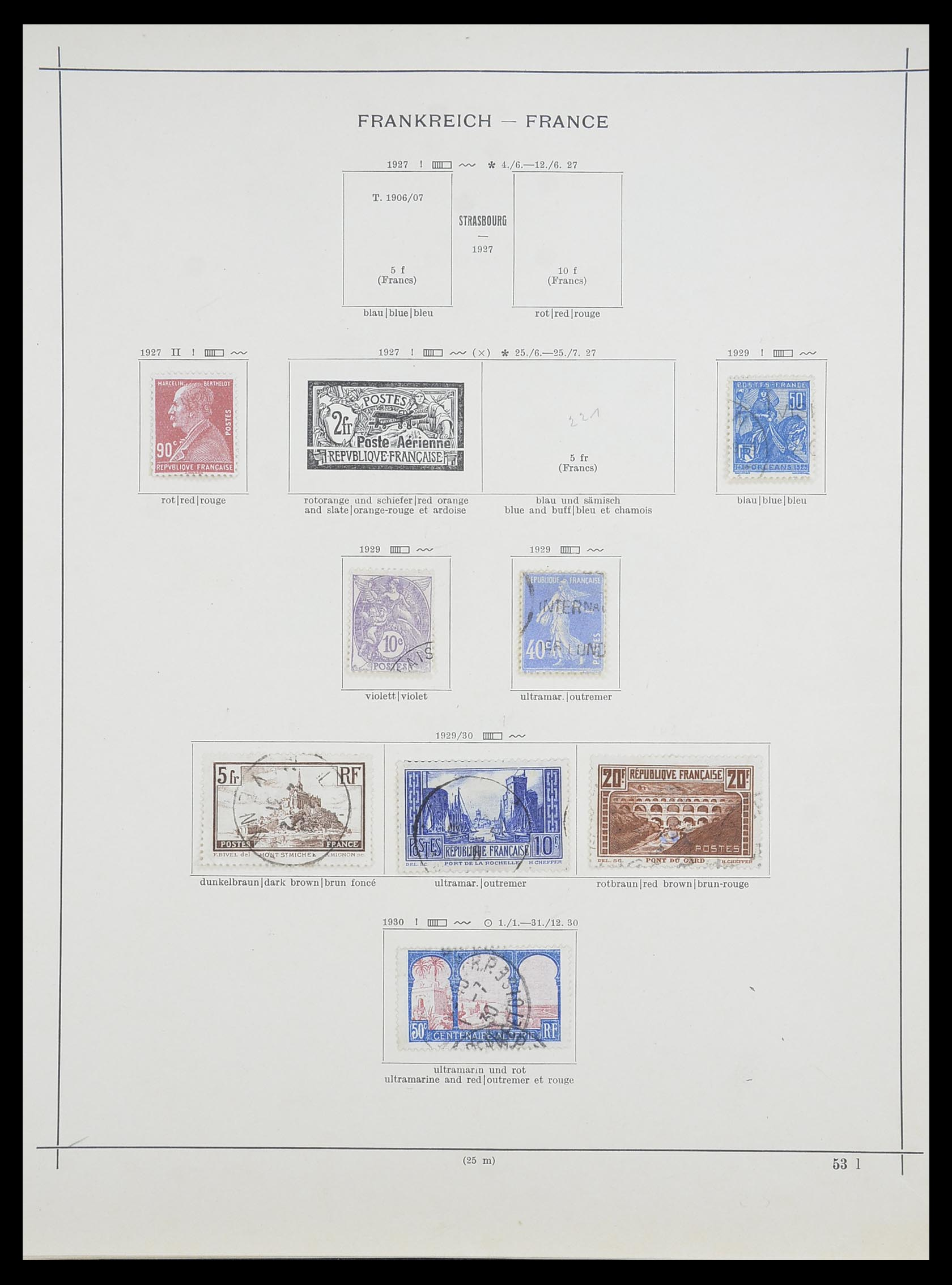33919 012 - Postzegelverzameling 33919 Frankrijk 1849-1946.