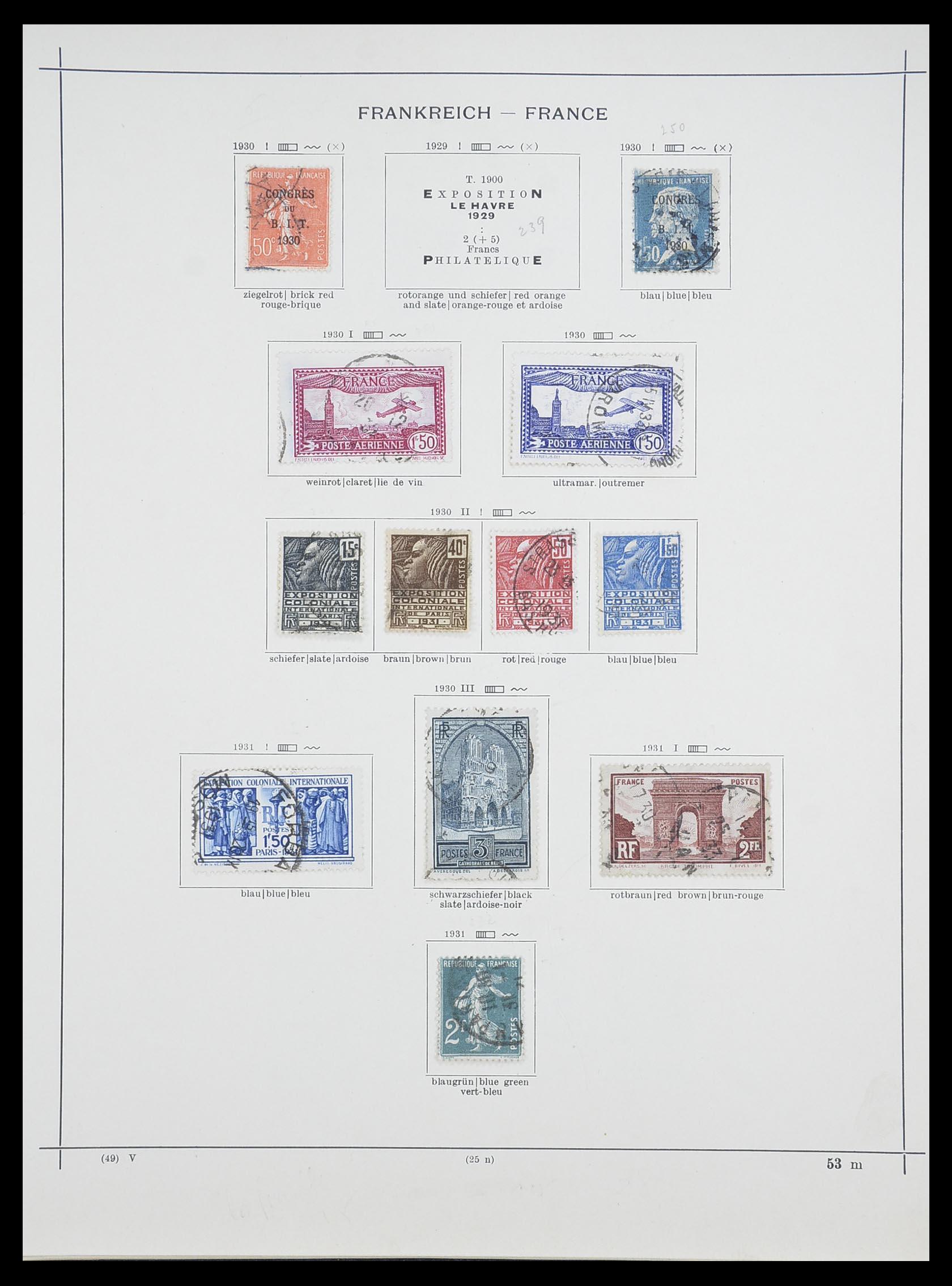 33919 013 - Postzegelverzameling 33919 Frankrijk 1849-1946.