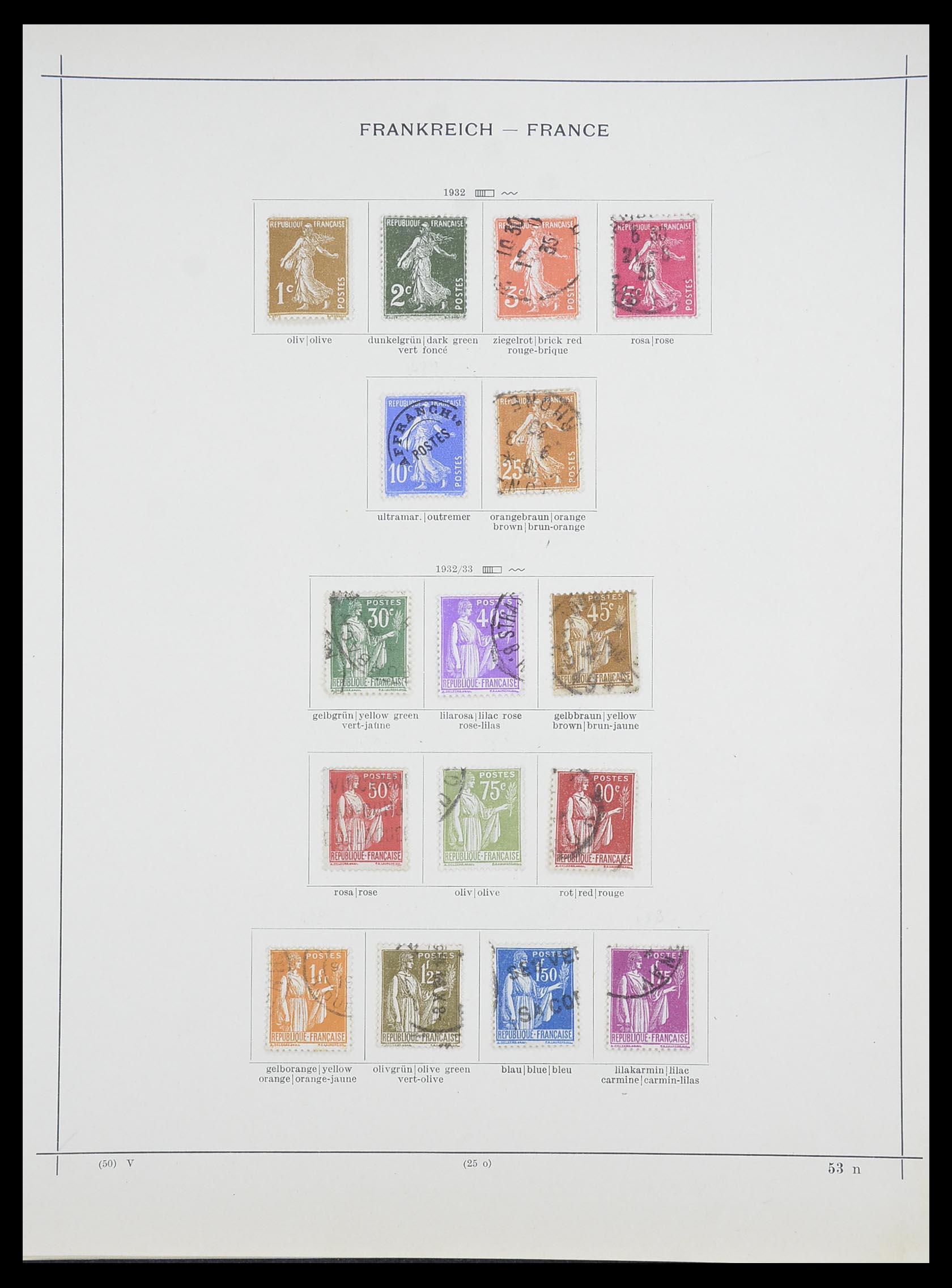 33919 014 - Postzegelverzameling 33919 Frankrijk 1849-1946.