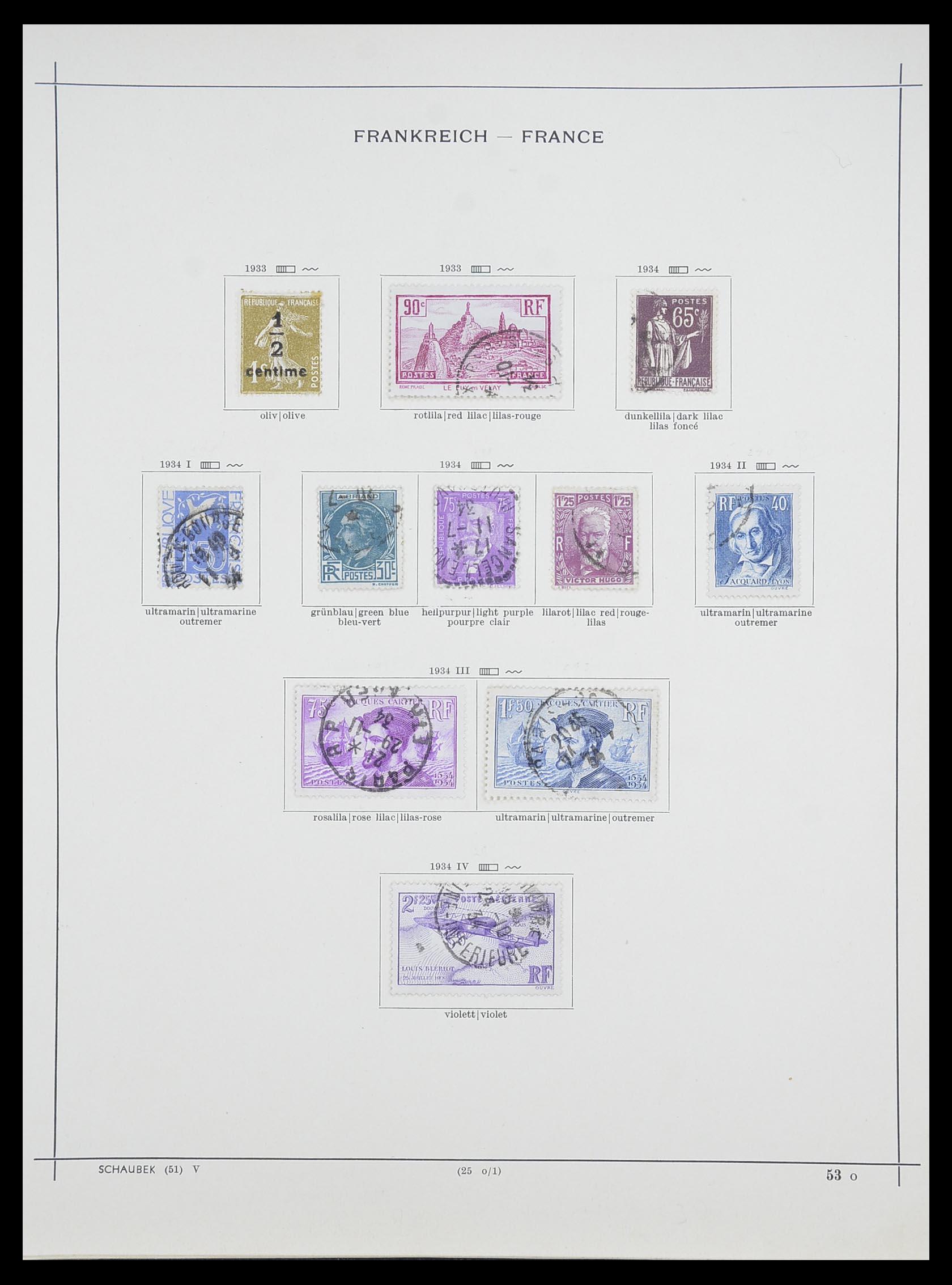 33919 015 - Postzegelverzameling 33919 Frankrijk 1849-1946.