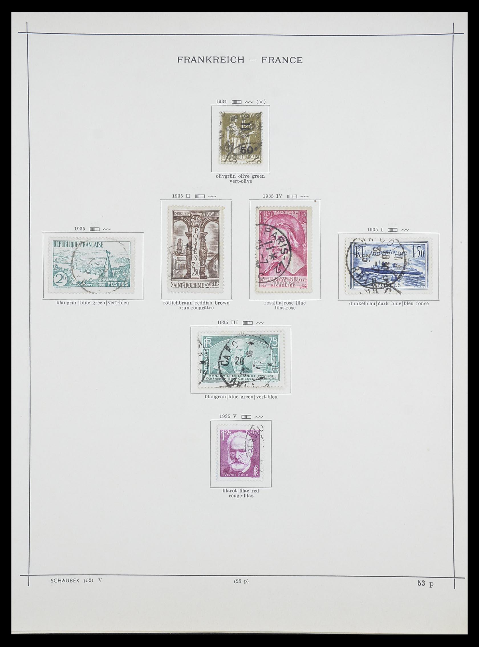 33919 016 - Postzegelverzameling 33919 Frankrijk 1849-1946.