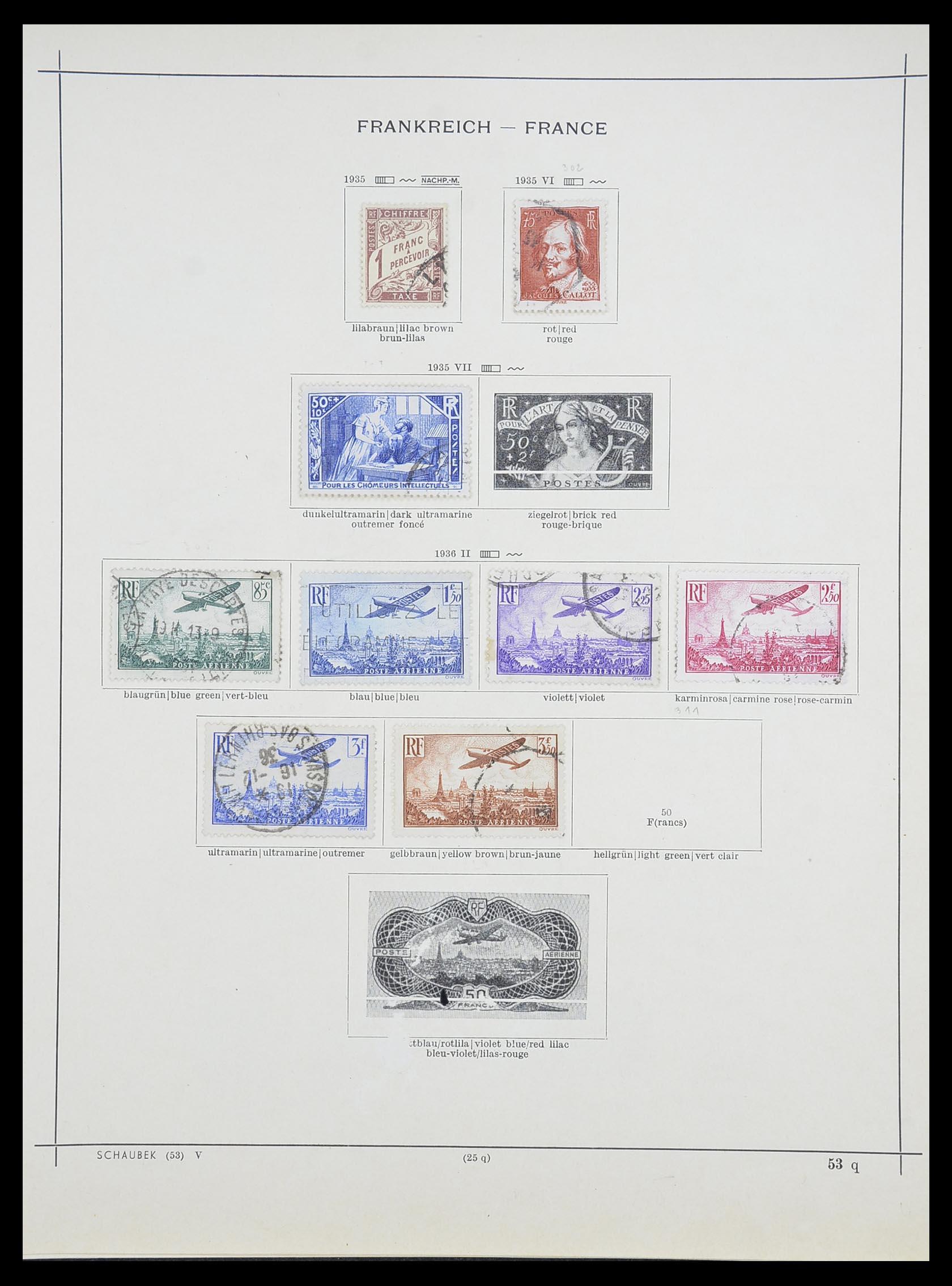 33919 017 - Postzegelverzameling 33919 Frankrijk 1849-1946.