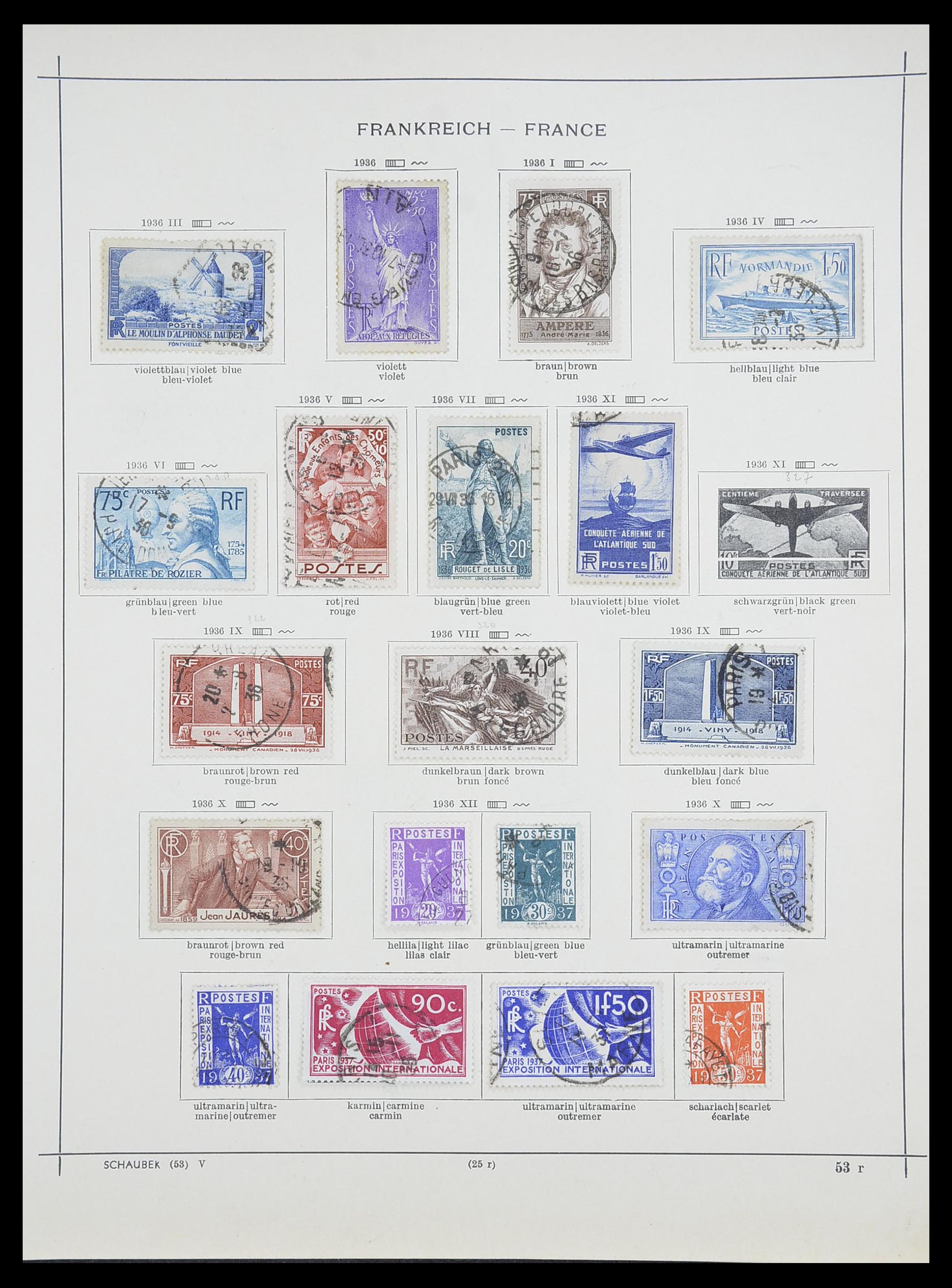 33919 018 - Postzegelverzameling 33919 Frankrijk 1849-1946.