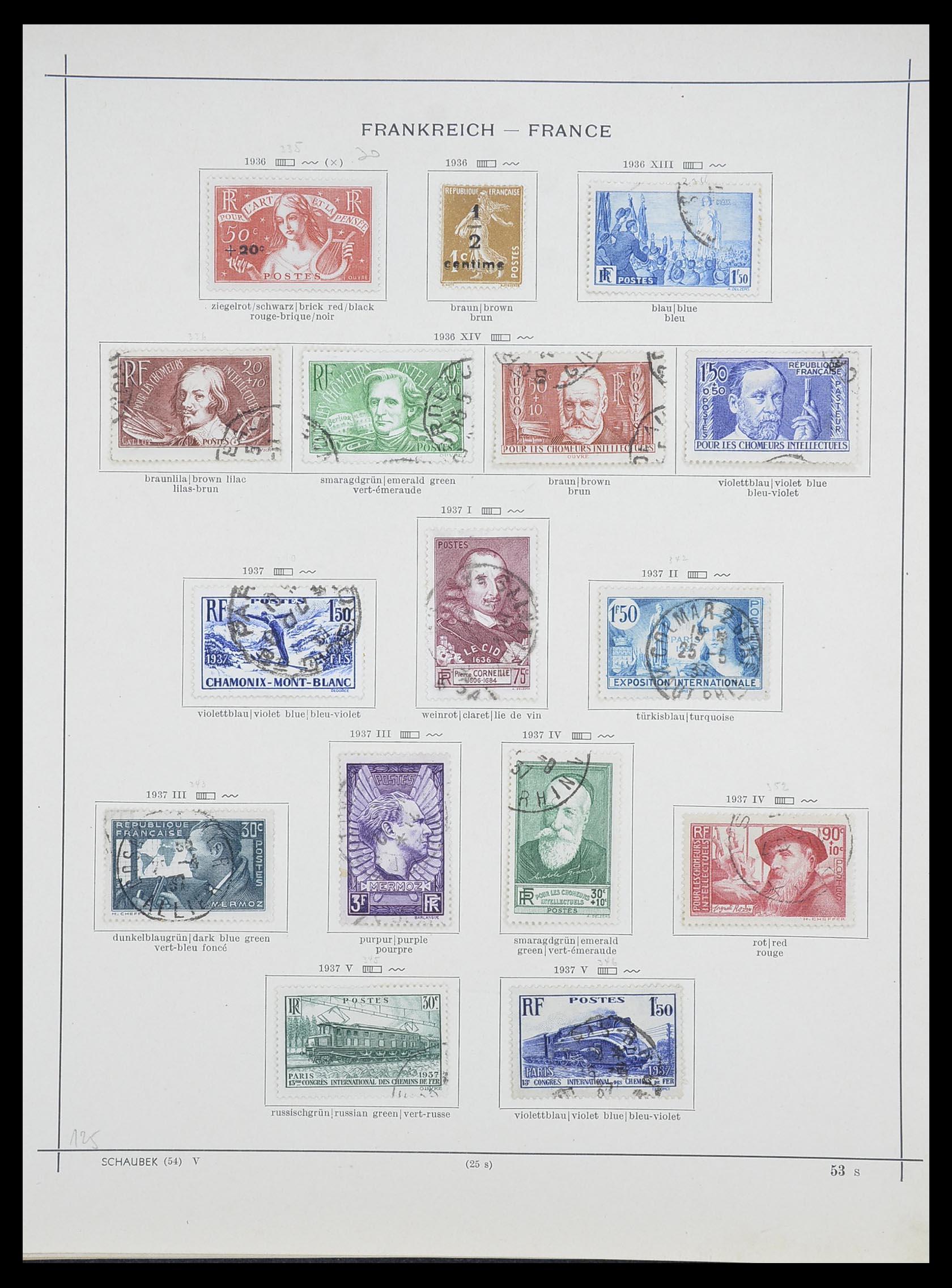 33919 019 - Postzegelverzameling 33919 Frankrijk 1849-1946.