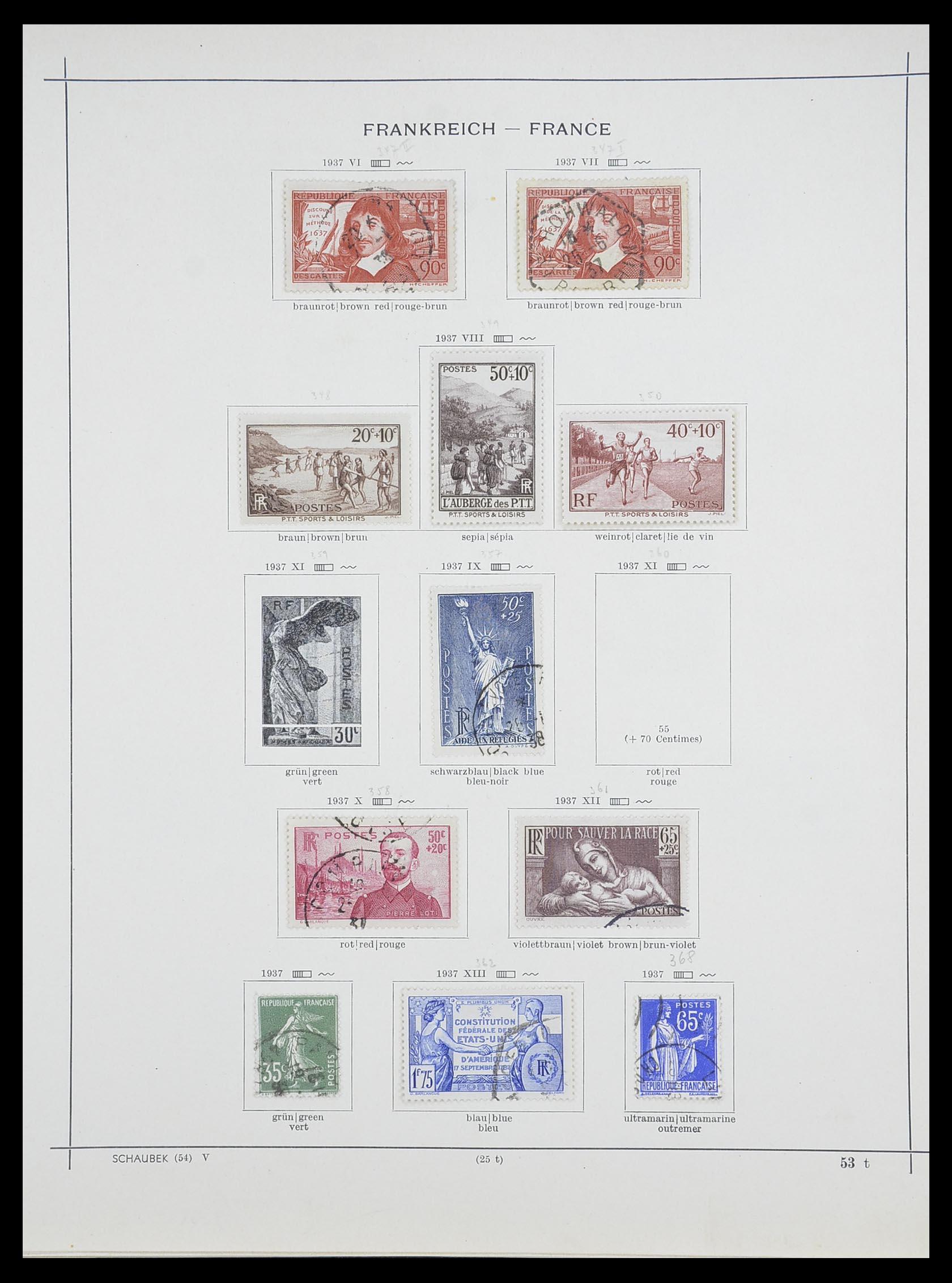 33919 020 - Postzegelverzameling 33919 Frankrijk 1849-1946.