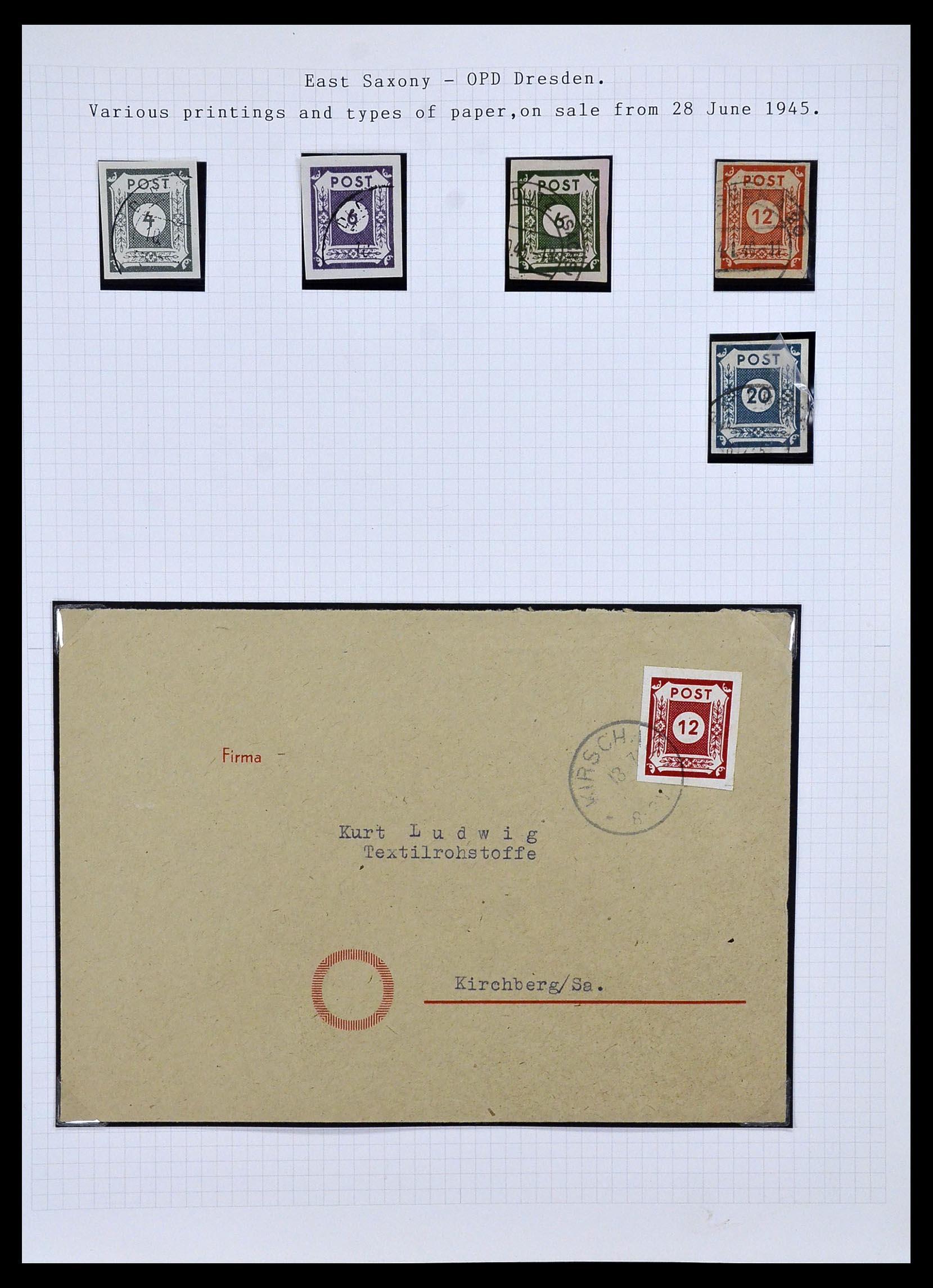 34032 001 - Postzegelverzameling 34032 Duitse Zones 1945-1948.