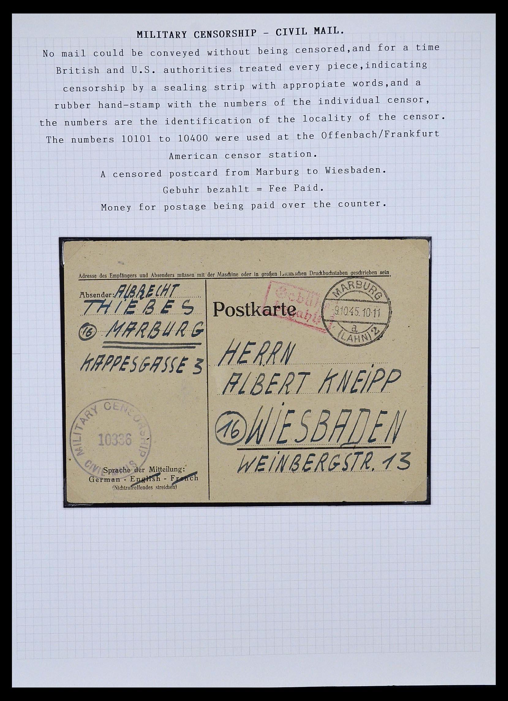 34032 003 - Postzegelverzameling 34032 Duitse Zones 1945-1948.