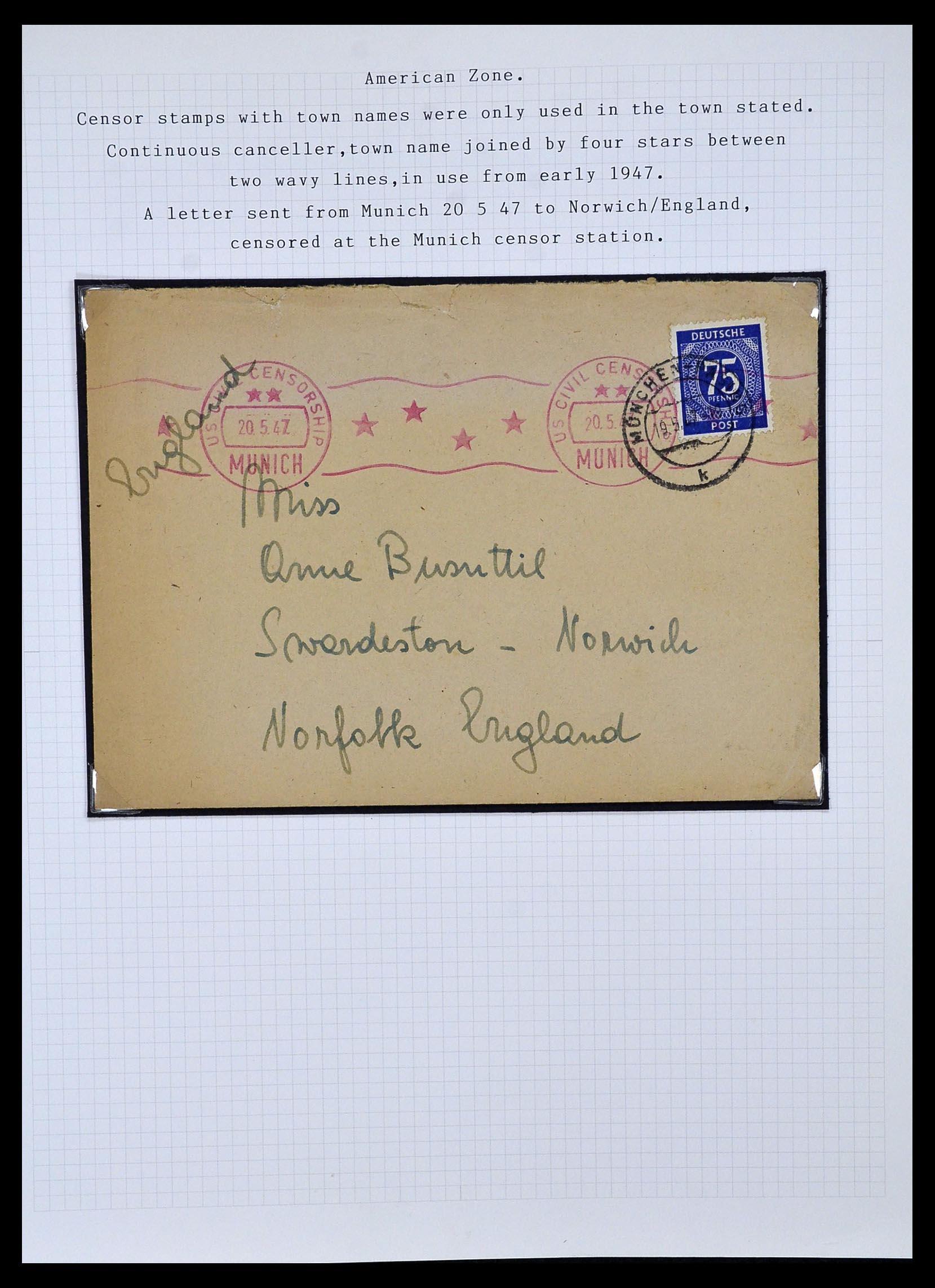34032 004 - Postzegelverzameling 34032 Duitse Zones 1945-1948.