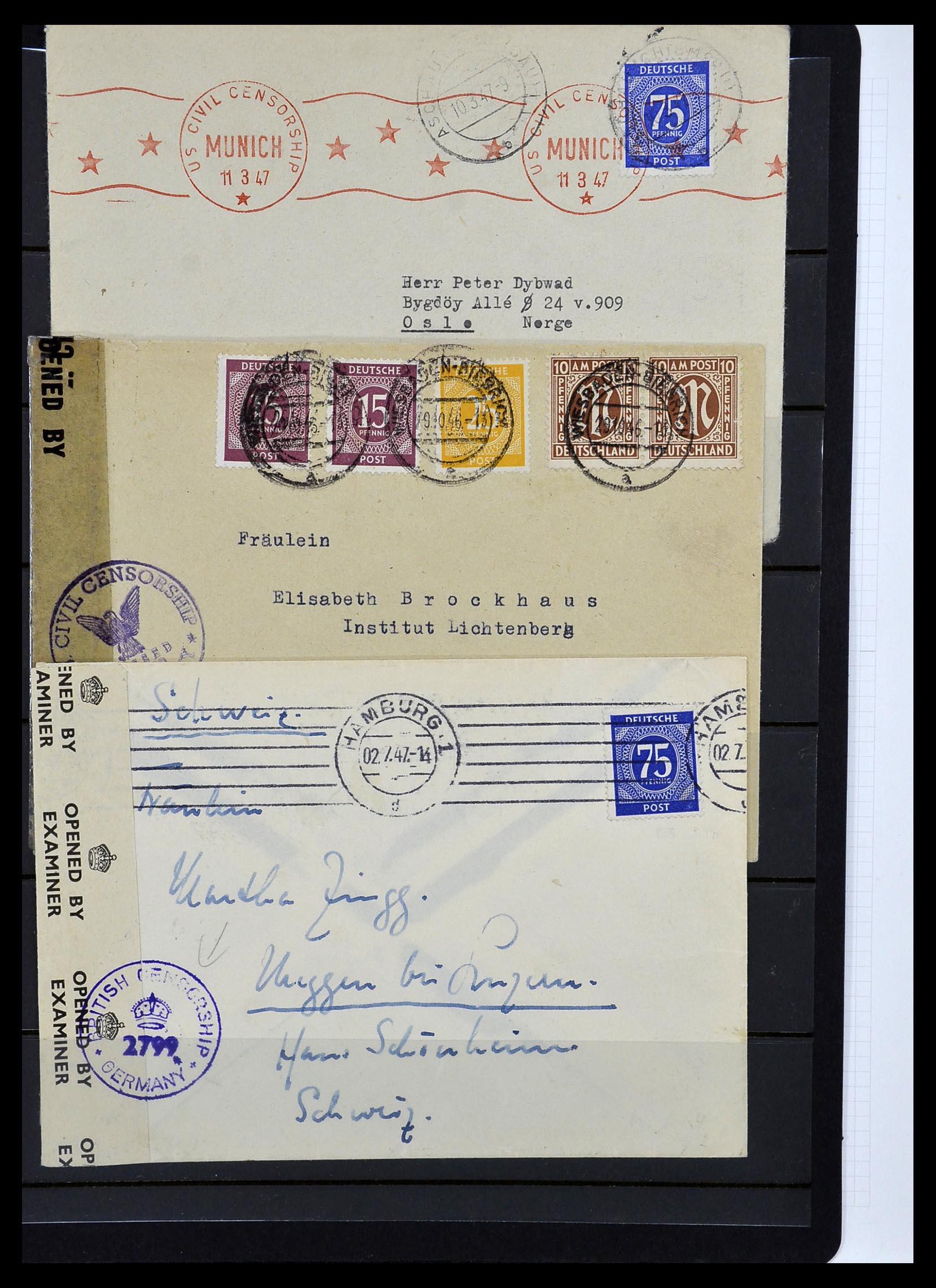 34032 007 - Postzegelverzameling 34032 Duitse Zones 1945-1948.