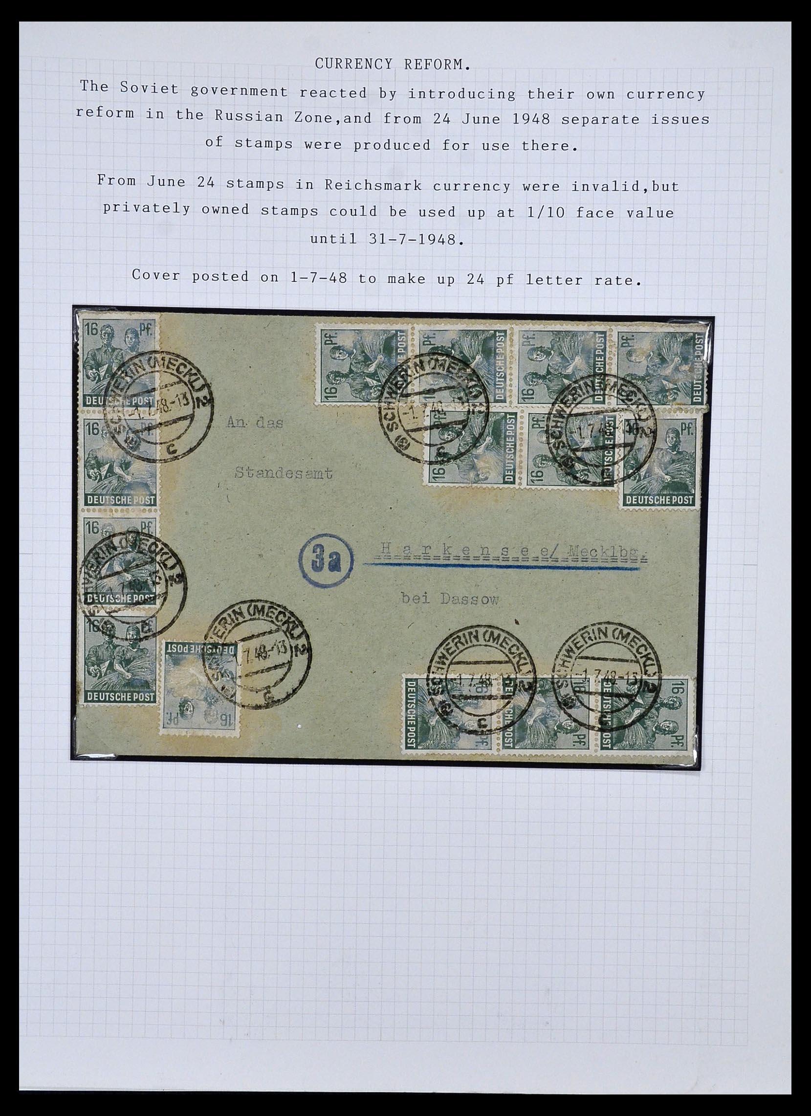 34032 008 - Postzegelverzameling 34032 Duitse Zones 1945-1948.