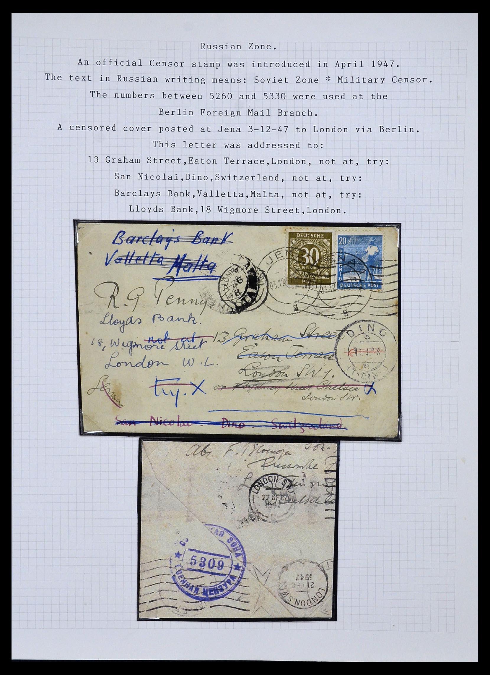 34032 009 - Postzegelverzameling 34032 Duitse Zones 1945-1948.