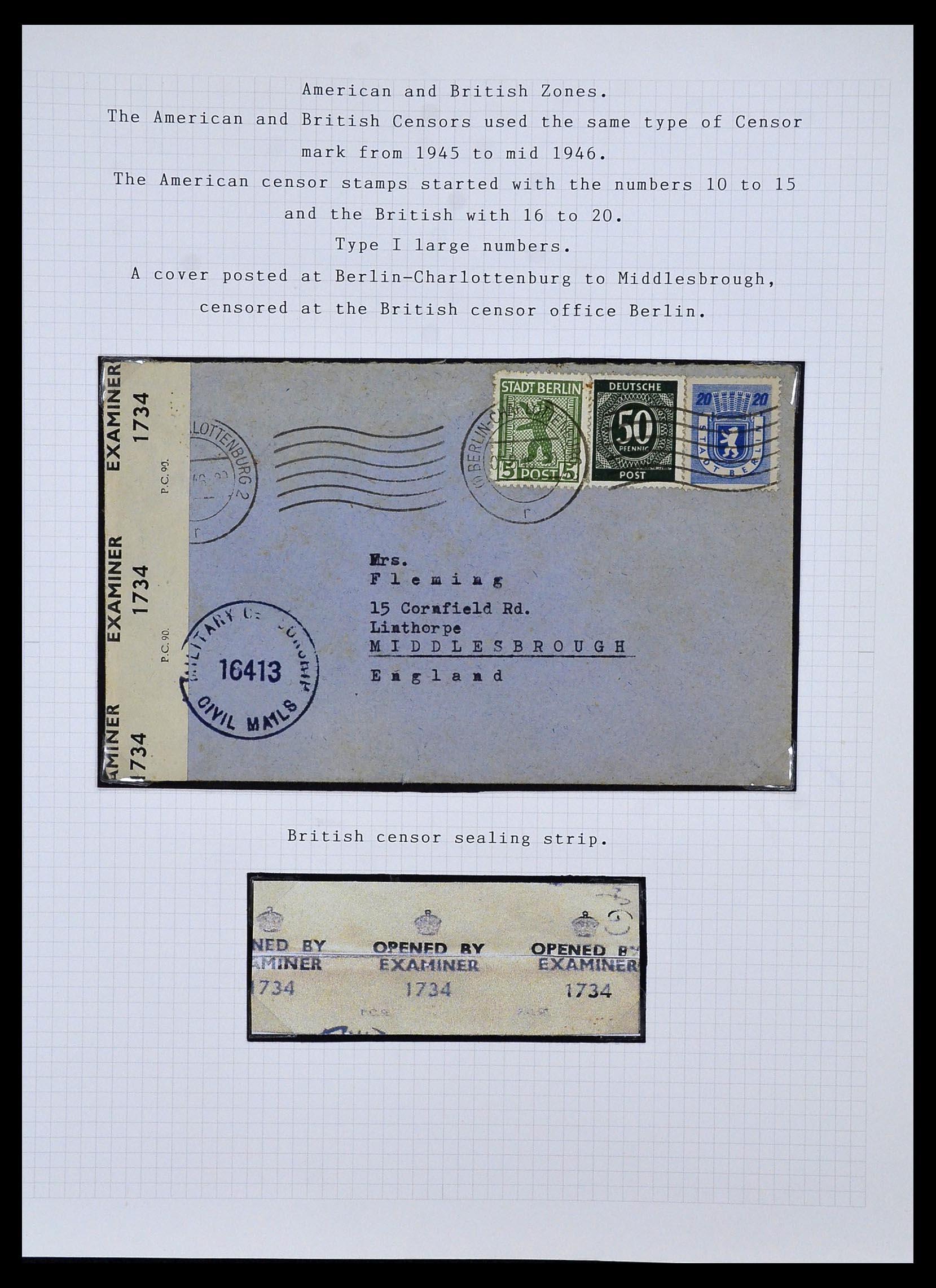 34032 010 - Postzegelverzameling 34032 Duitse Zones 1945-1948.