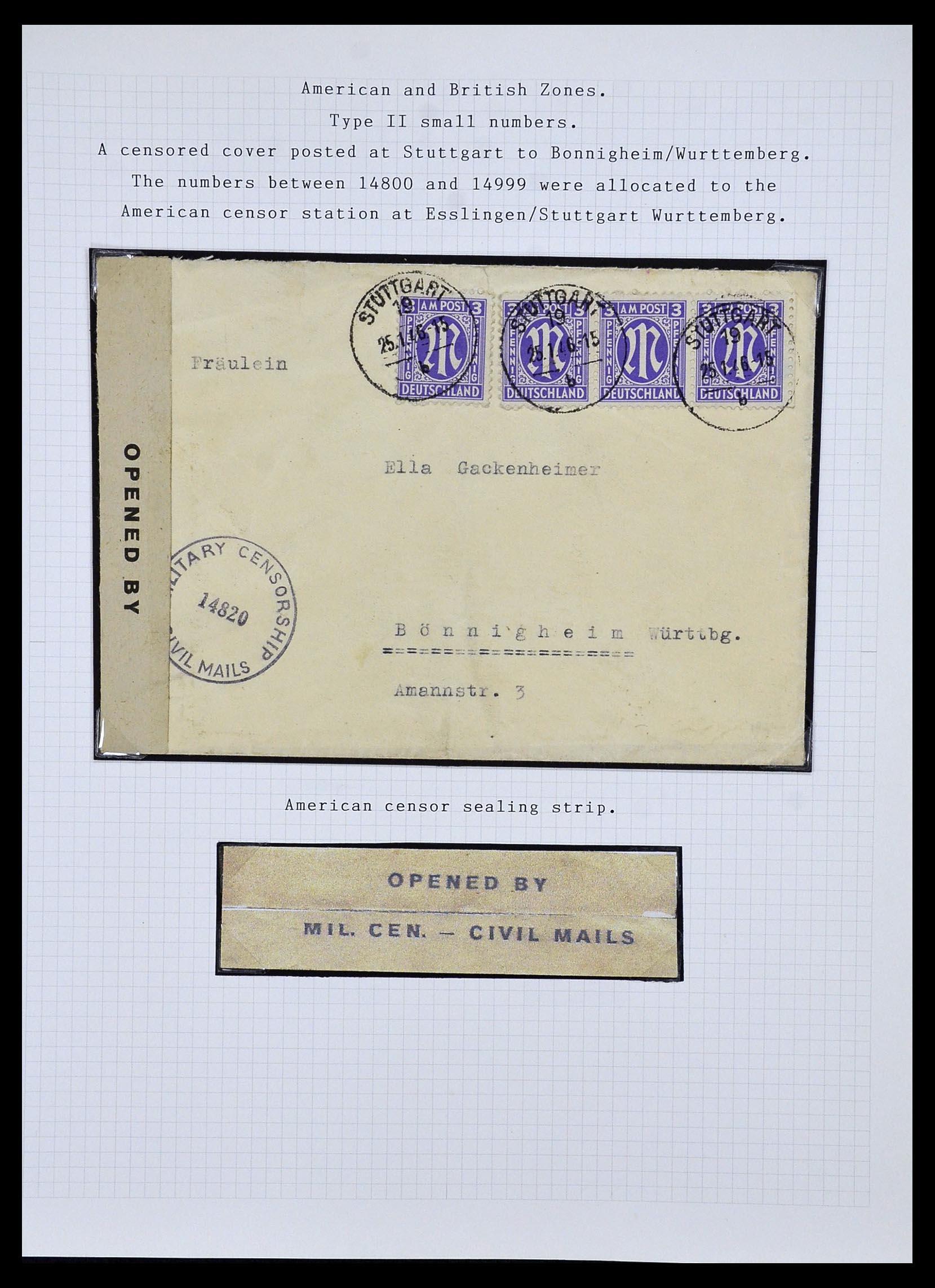 34032 011 - Postzegelverzameling 34032 Duitse Zones 1945-1948.