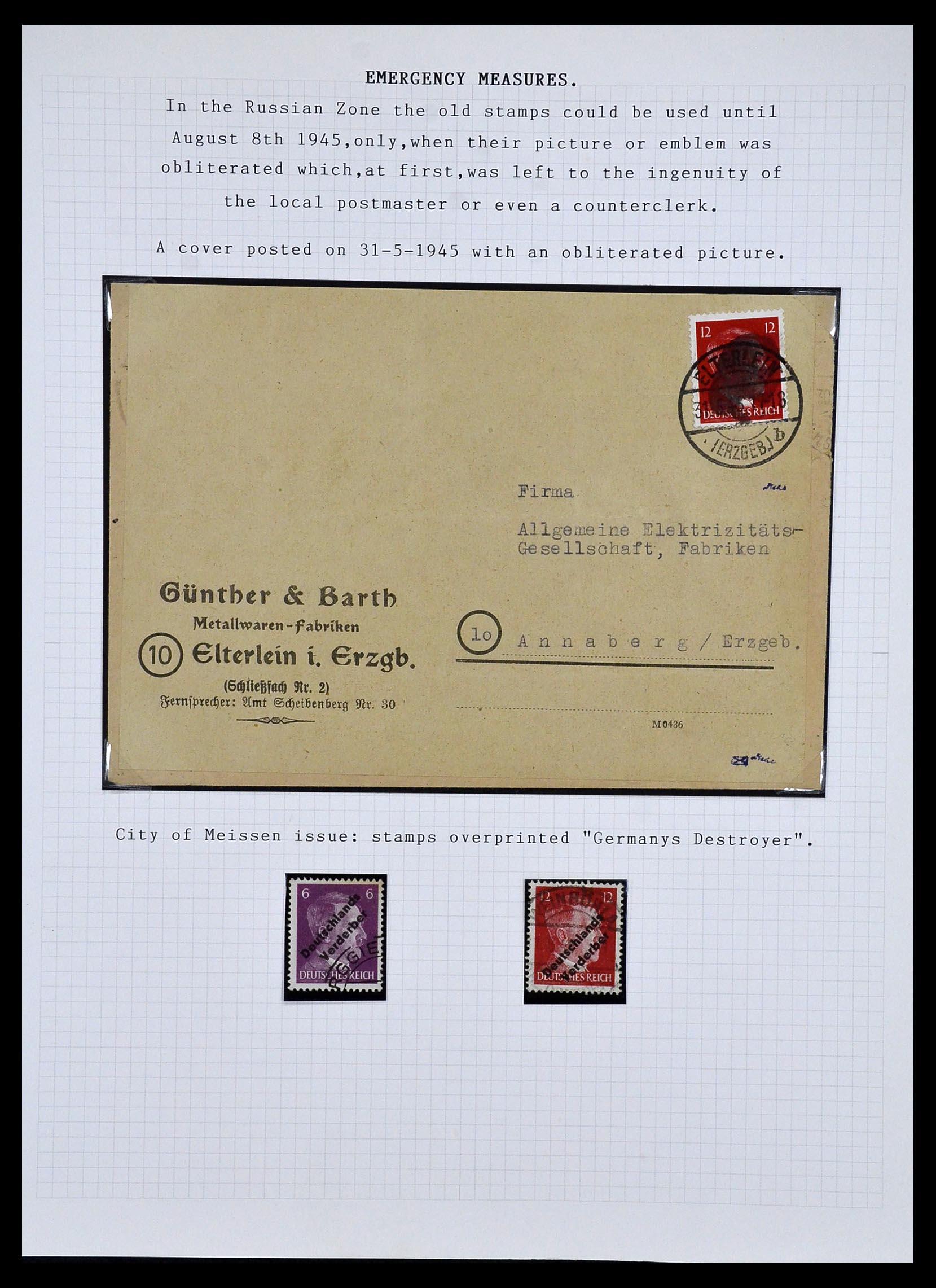 34032 012 - Postzegelverzameling 34032 Duitse Zones 1945-1948.
