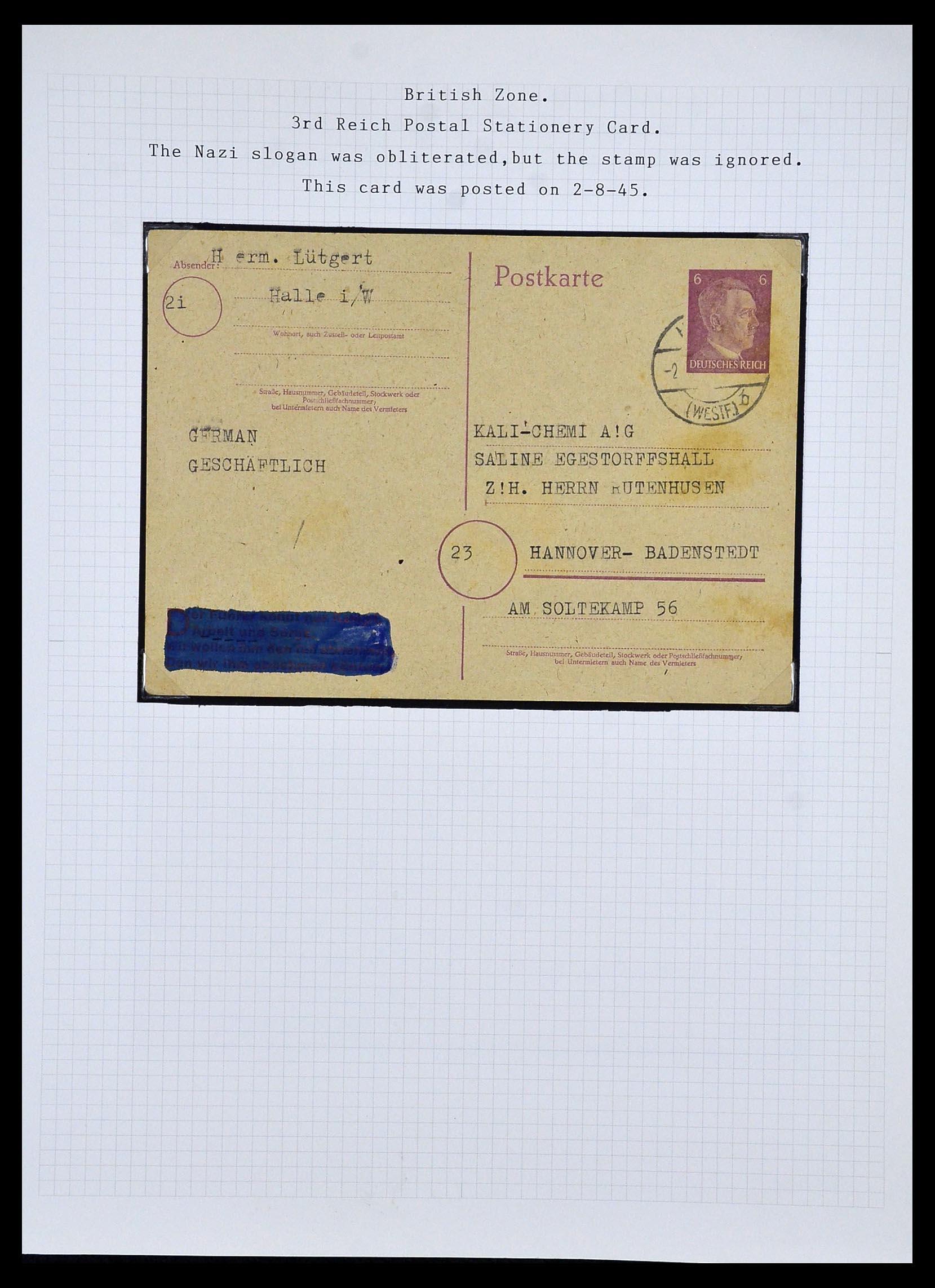 34032 013 - Postzegelverzameling 34032 Duitse Zones 1945-1948.