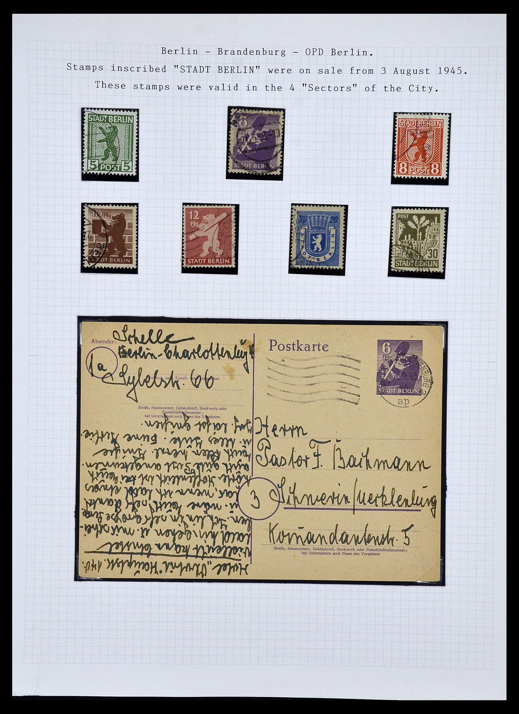 34032 014 - Postzegelverzameling 34032 Duitse Zones 1945-1948.