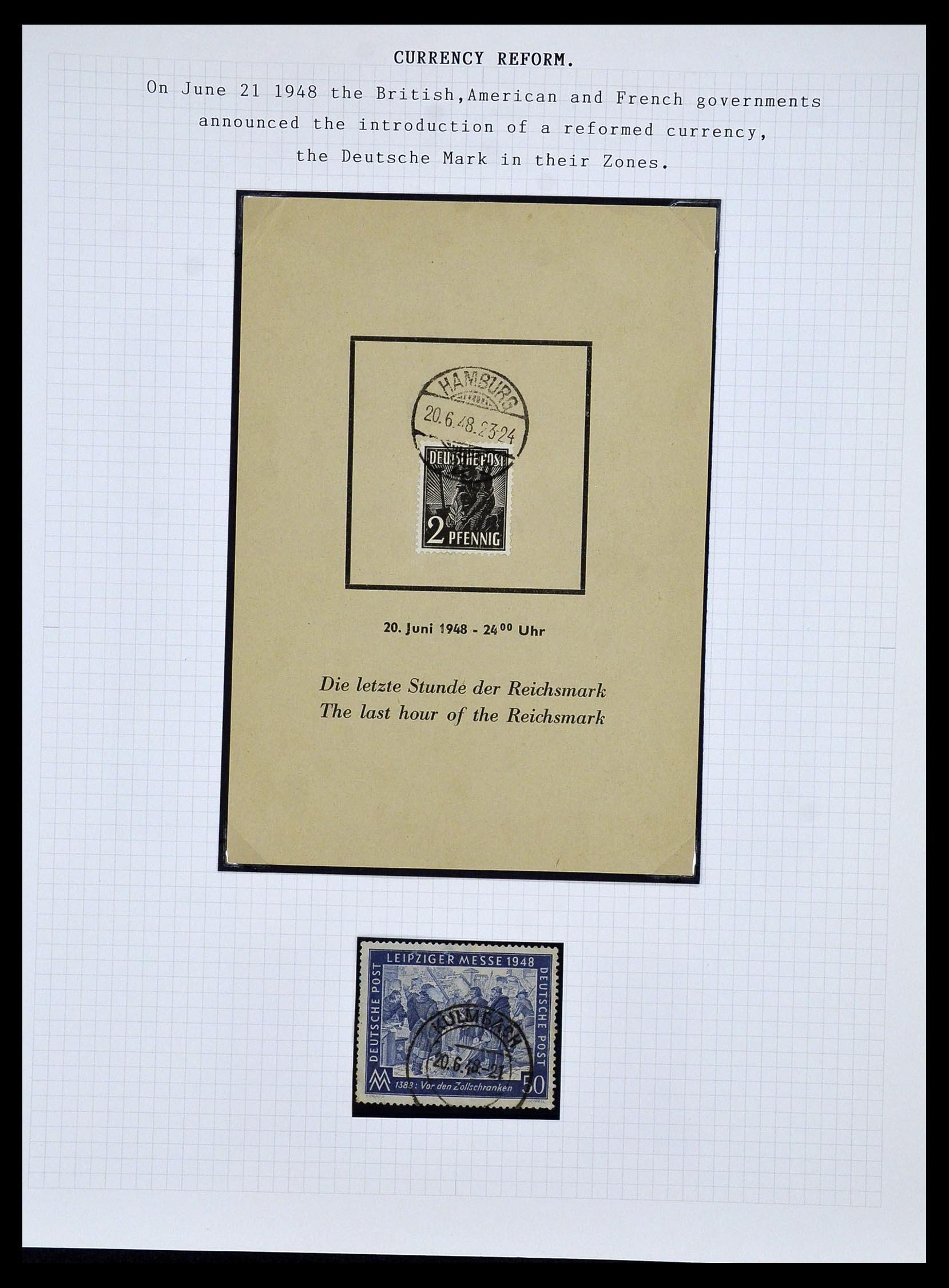 34032 017 - Postzegelverzameling 34032 Duitse Zones 1945-1948.
