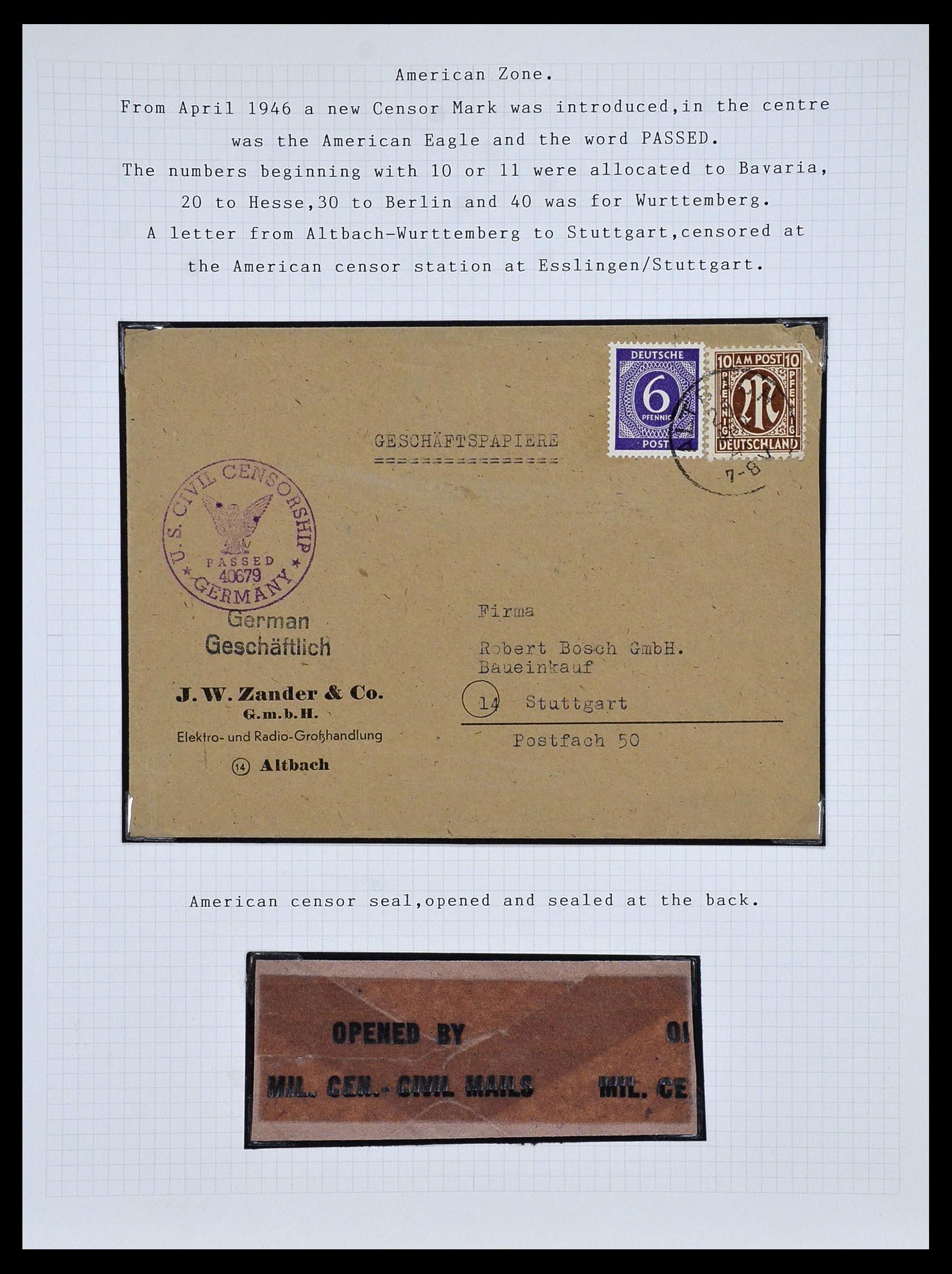 34032 018 - Postzegelverzameling 34032 Duitse Zones 1945-1948.