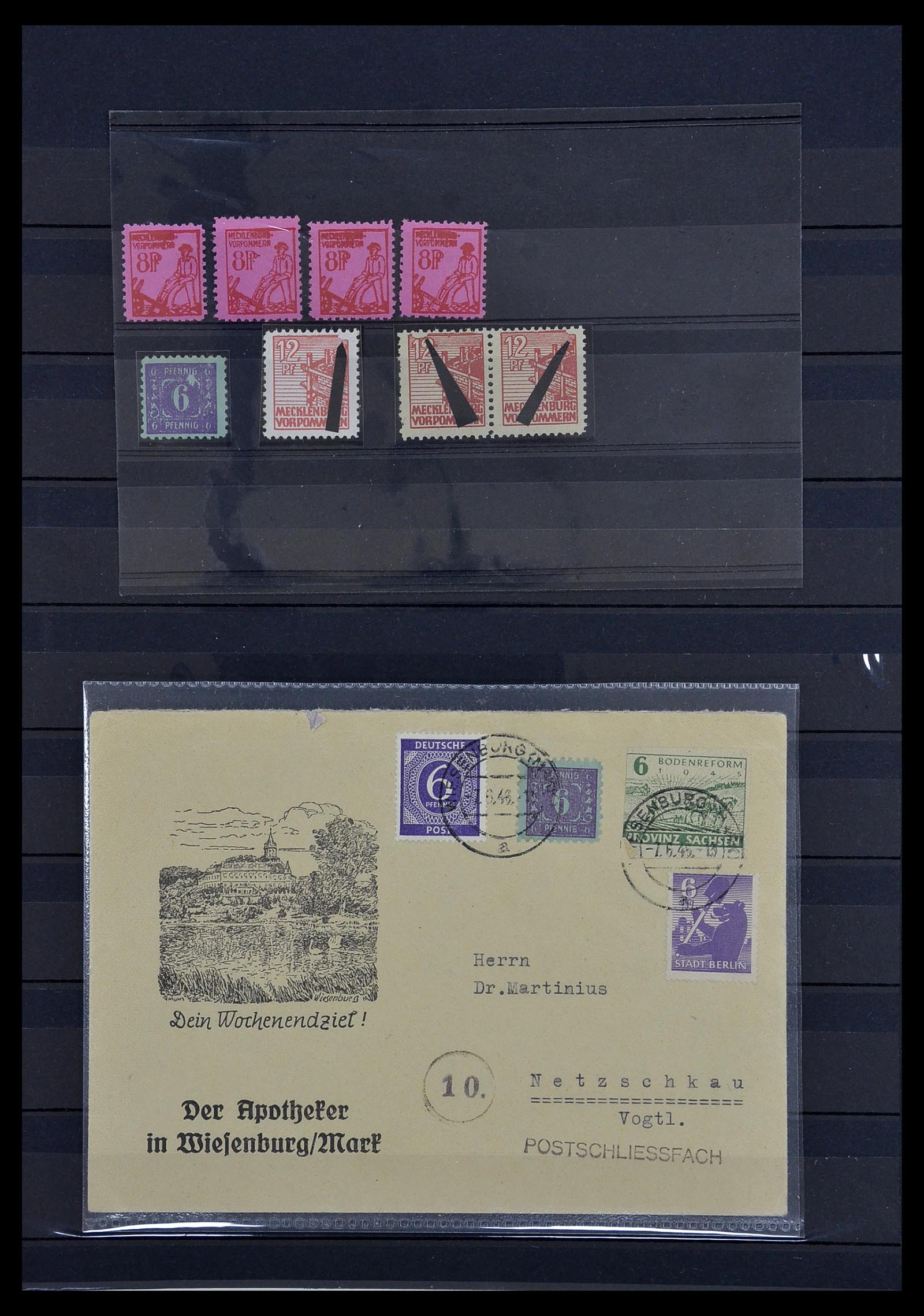 34039 001 - Postzegelverzameling 34039 Mecklenburg-Vorpommern 1945-1946.