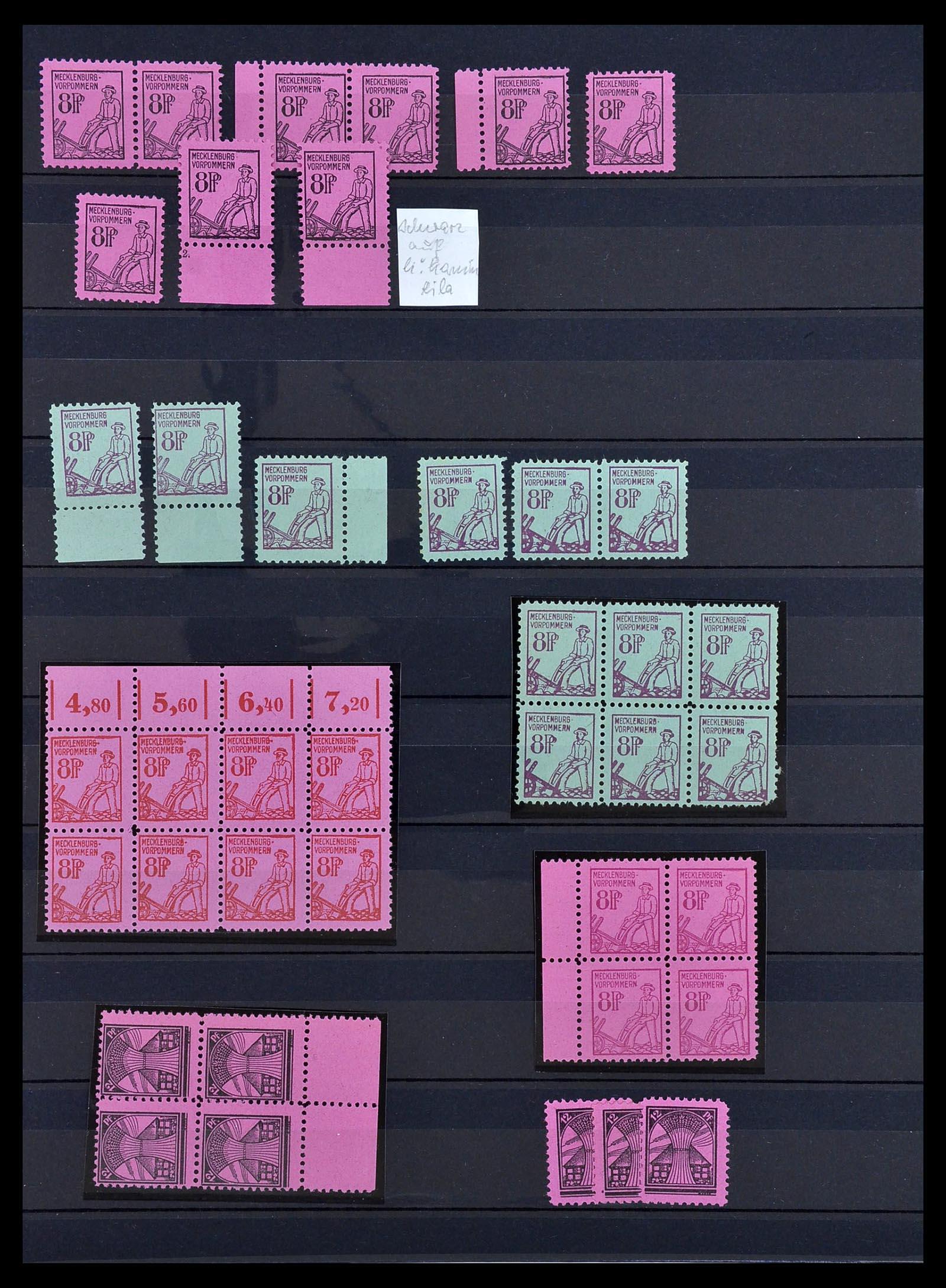 34039 003 - Postzegelverzameling 34039 Mecklenburg-Vorpommern 1945-1946.