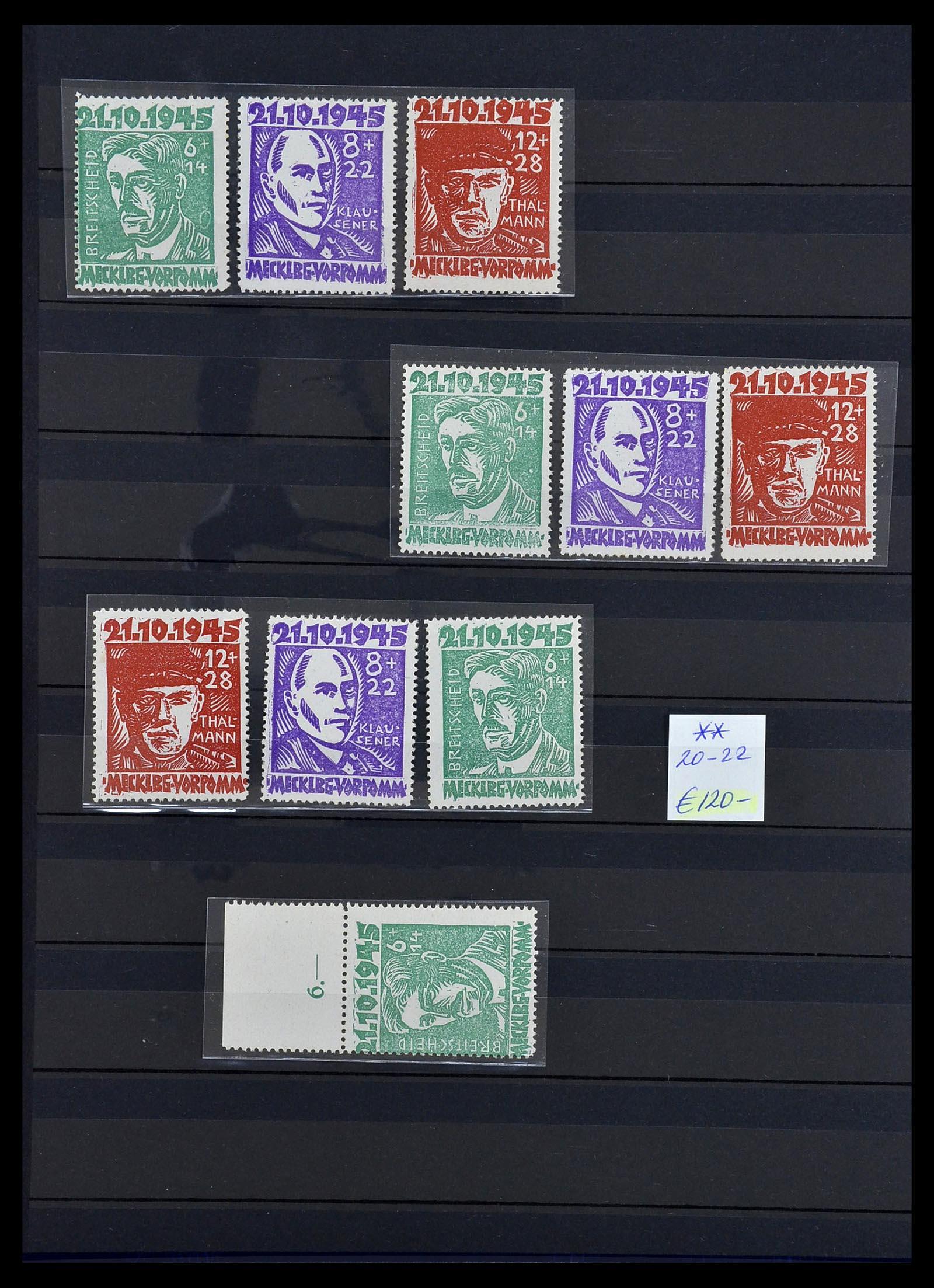 34039 006 - Postzegelverzameling 34039 Mecklenburg-Vorpommern 1945-1946.