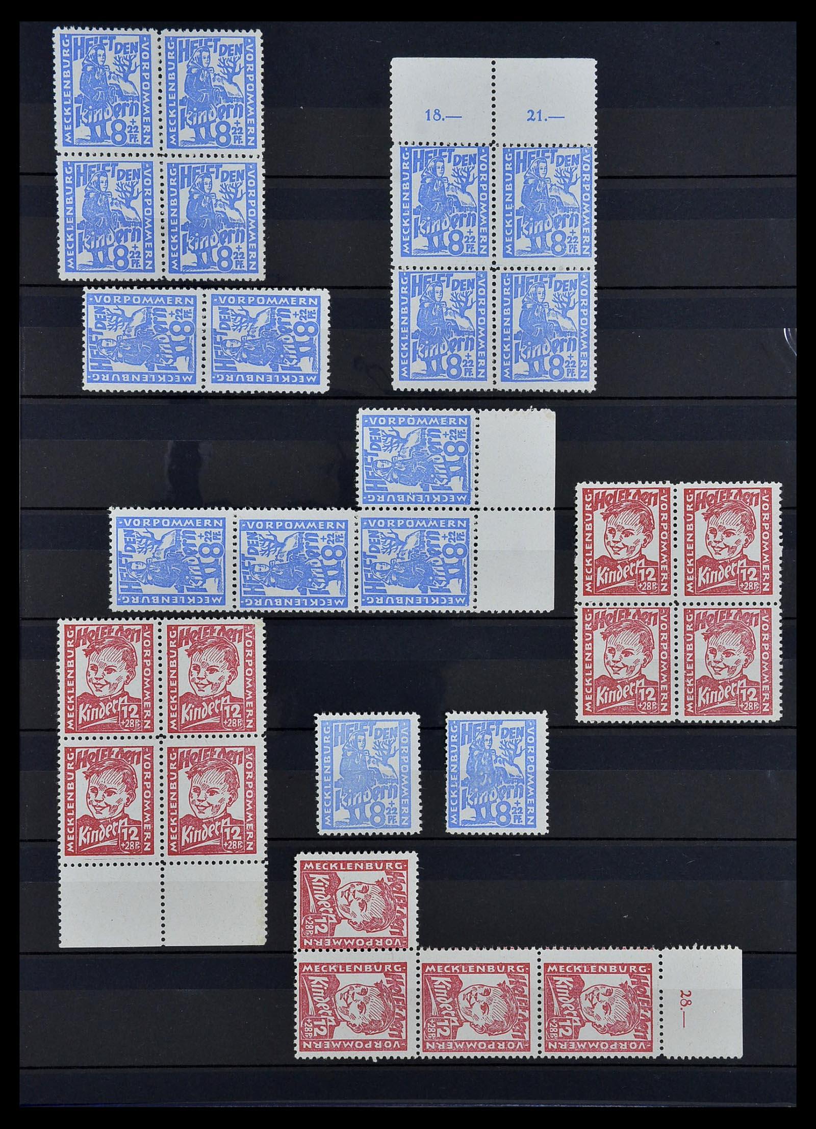 34039 009 - Postzegelverzameling 34039 Mecklenburg-Vorpommern 1945-1946.