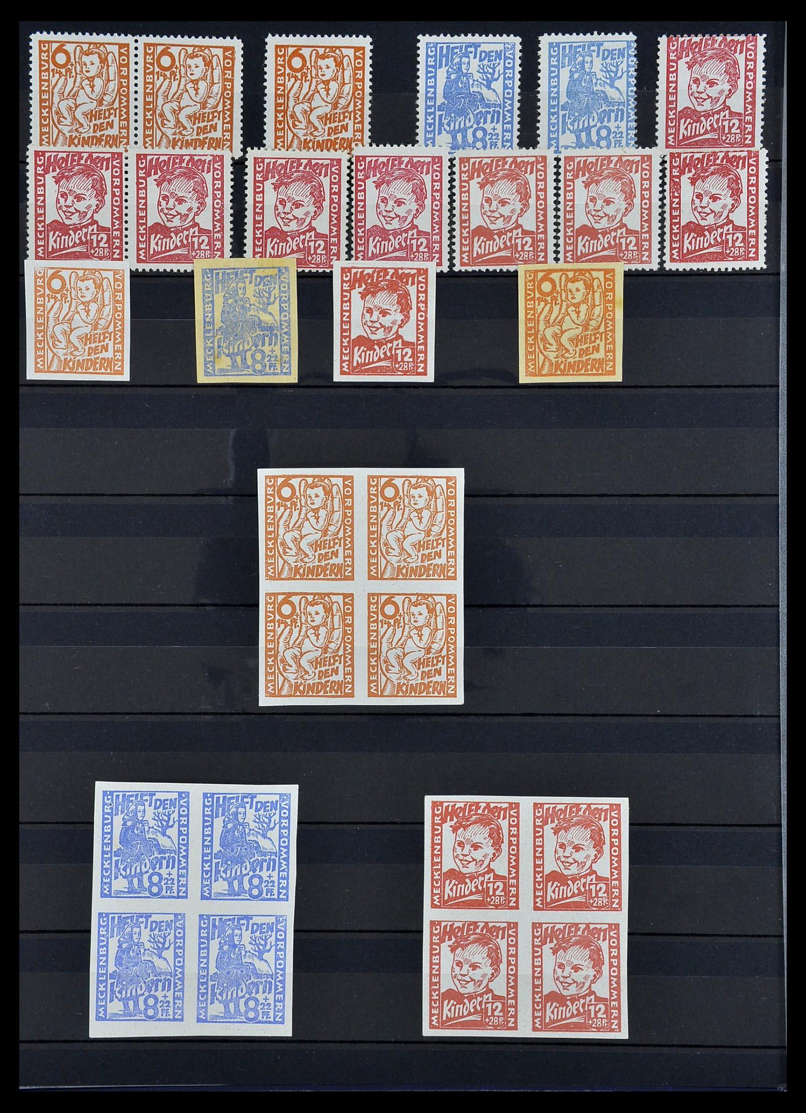 34039 010 - Postzegelverzameling 34039 Mecklenburg-Vorpommern 1945-1946.