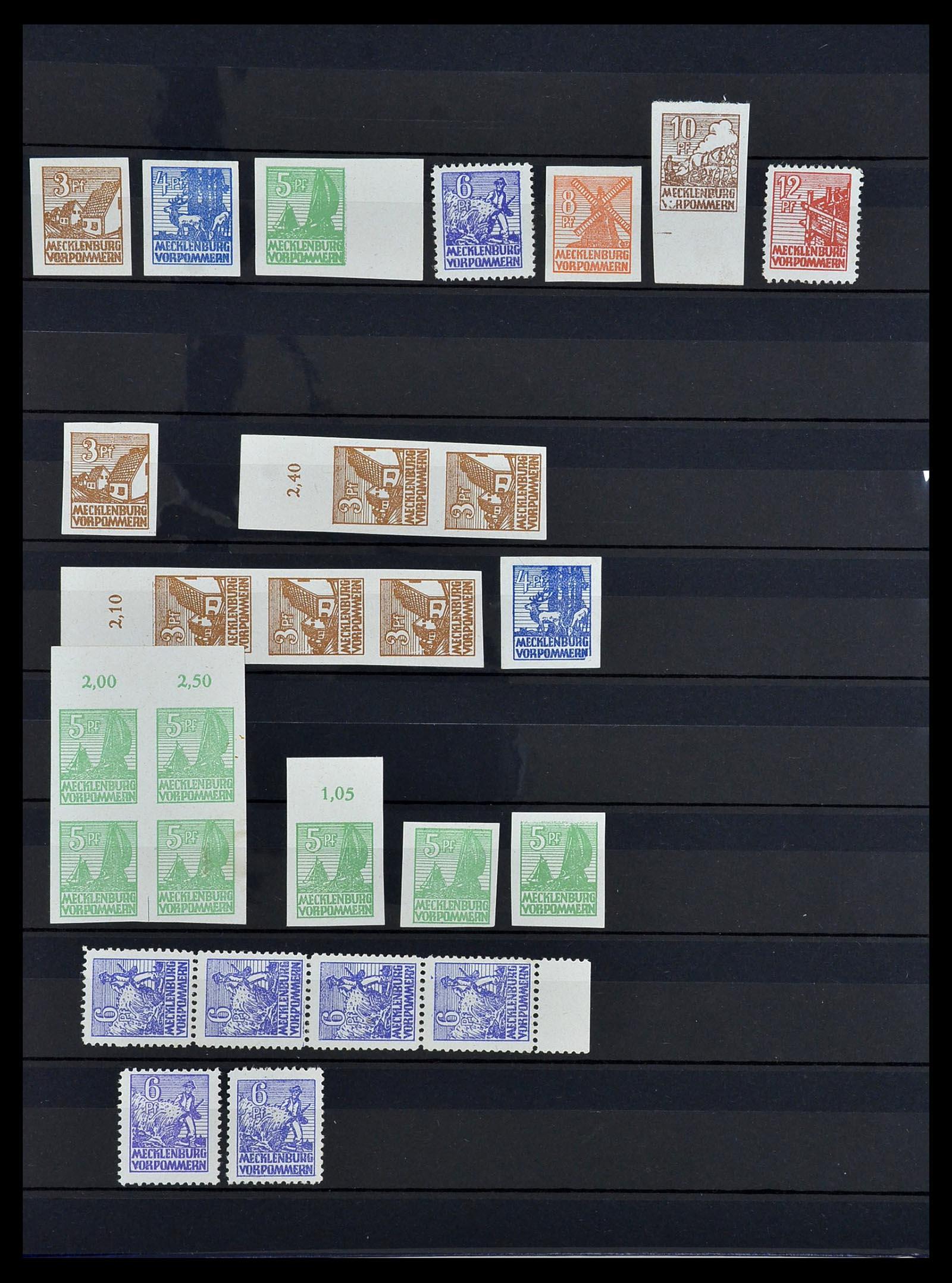34039 011 - Postzegelverzameling 34039 Mecklenburg-Vorpommern 1945-1946.