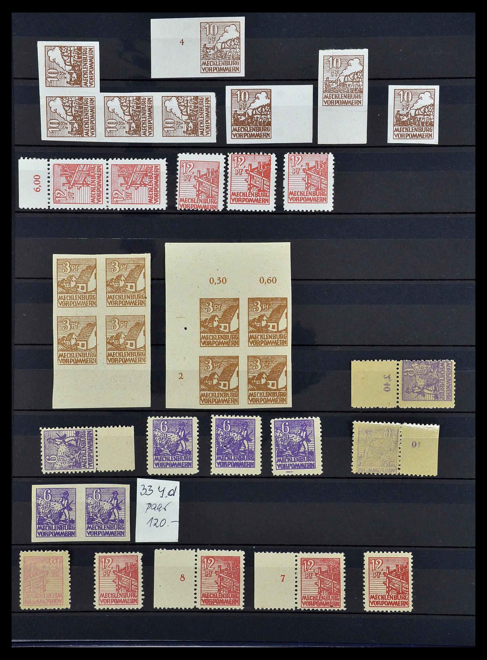 34039 012 - Postzegelverzameling 34039 Mecklenburg-Vorpommern 1945-1946.