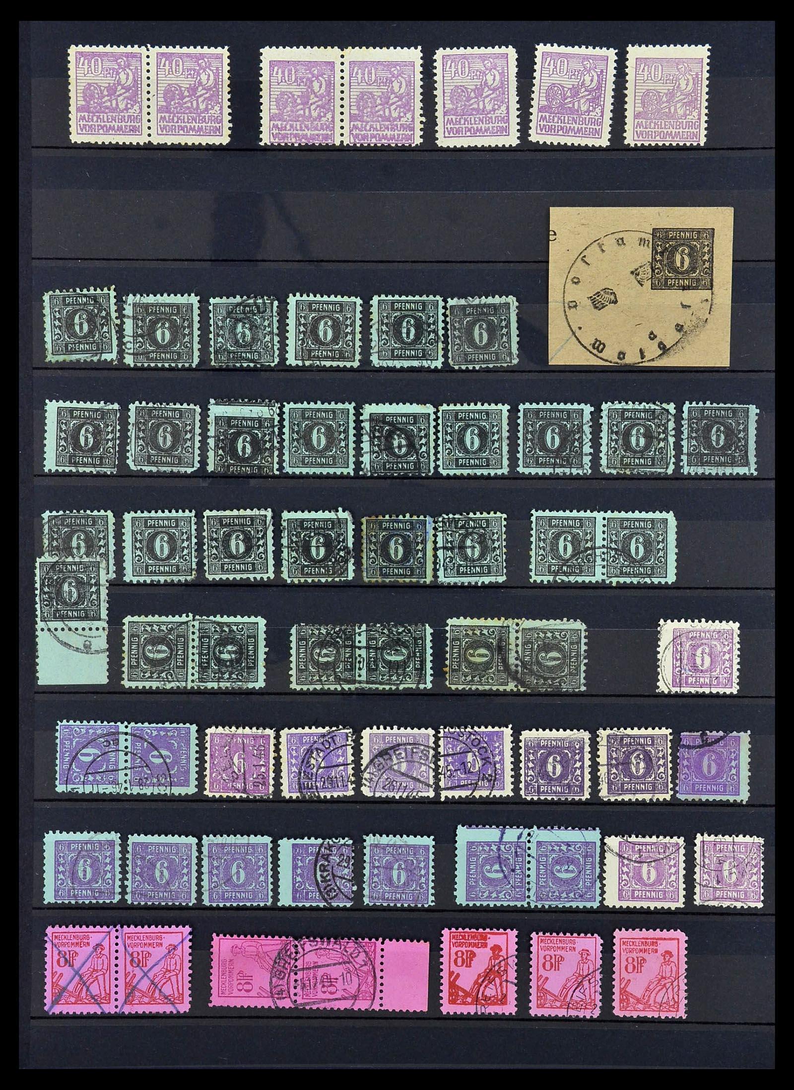 34039 014 - Postzegelverzameling 34039 Mecklenburg-Vorpommern 1945-1946.