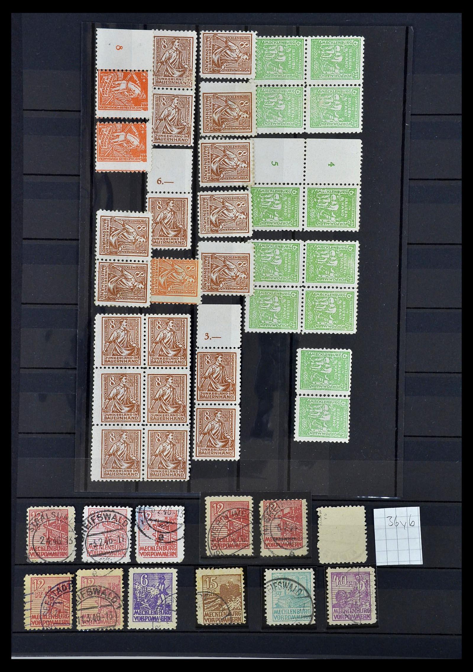 34039 016 - Postzegelverzameling 34039 Mecklenburg-Vorpommern 1945-1946.
