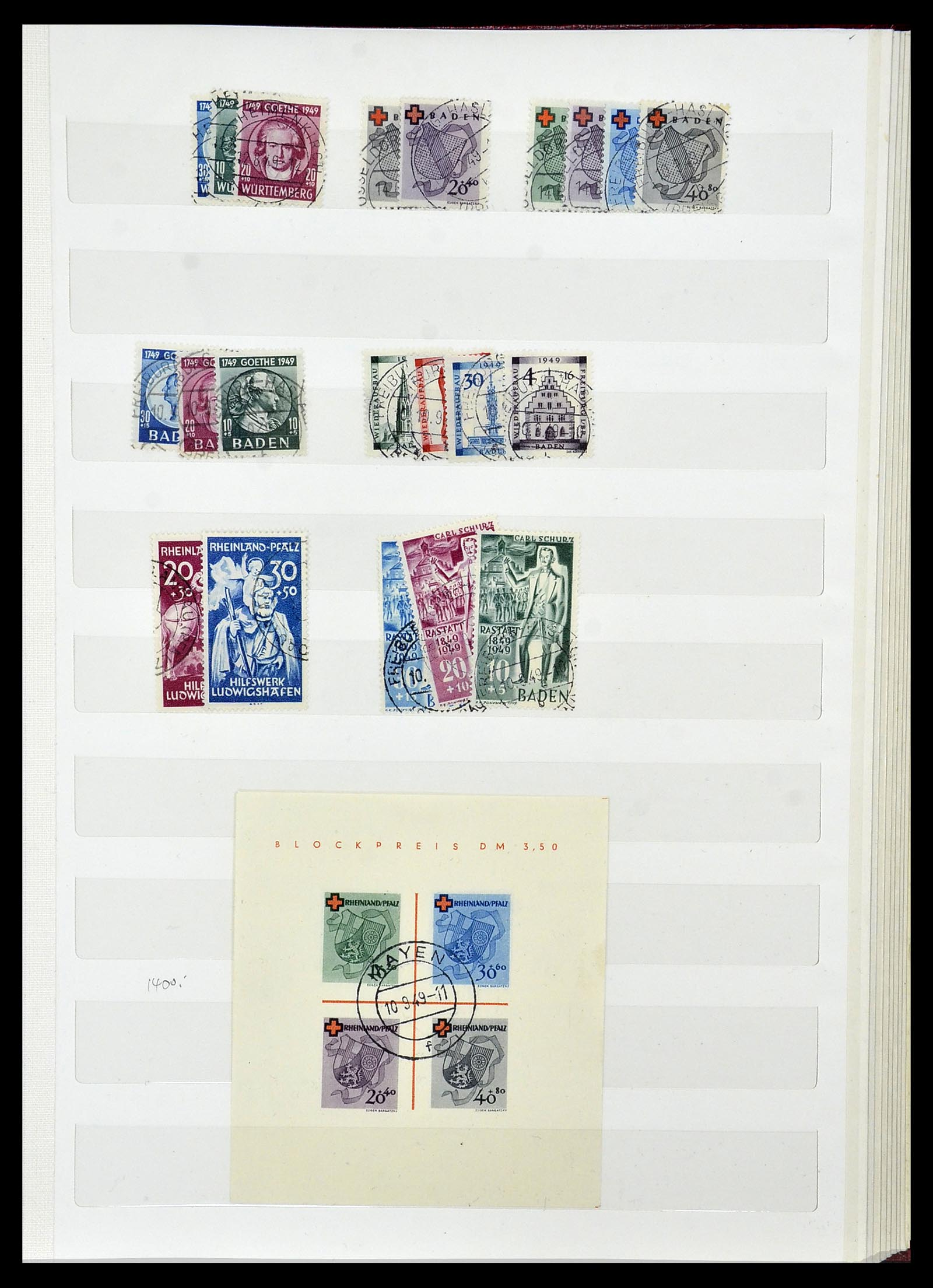 34069 016 - Postzegelverzameling 34069 Duitsland 1855-1952.