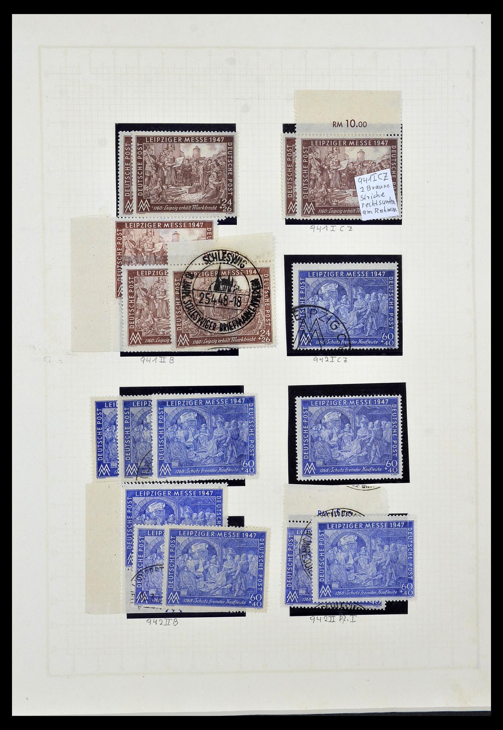 34152 001 - Postzegelverzameling 34152 Duitse Zones 1945-1949.