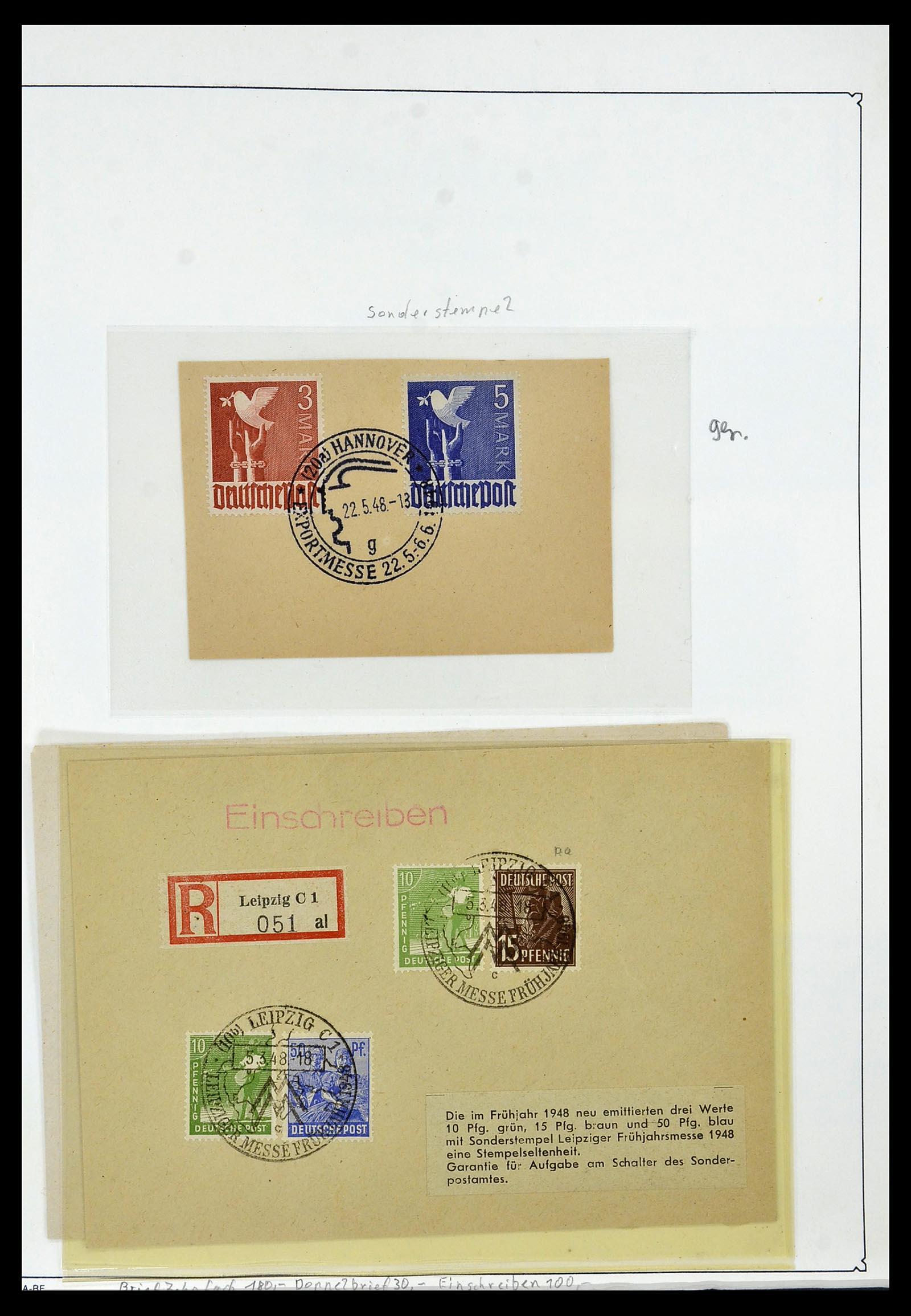 34152 002 - Postzegelverzameling 34152 Duitse Zones 1945-1949.