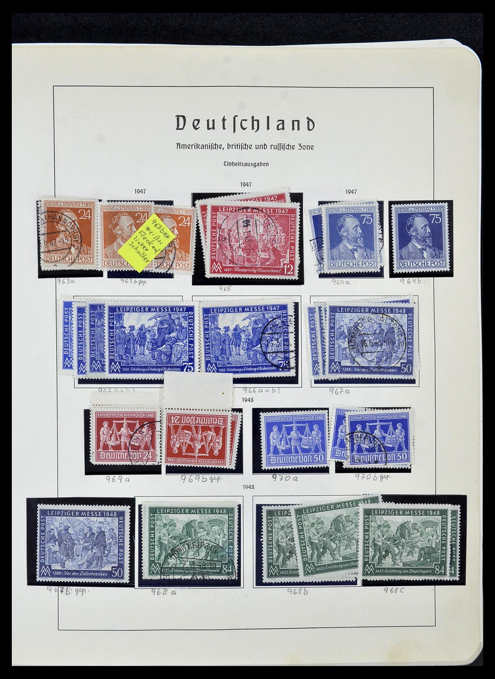 34152 003 - Postzegelverzameling 34152 Duitse Zones 1945-1949.