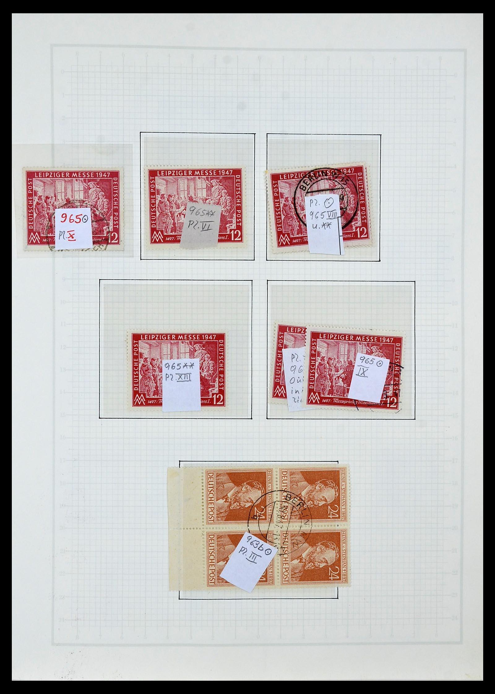 34152 004 - Postzegelverzameling 34152 Duitse Zones 1945-1949.