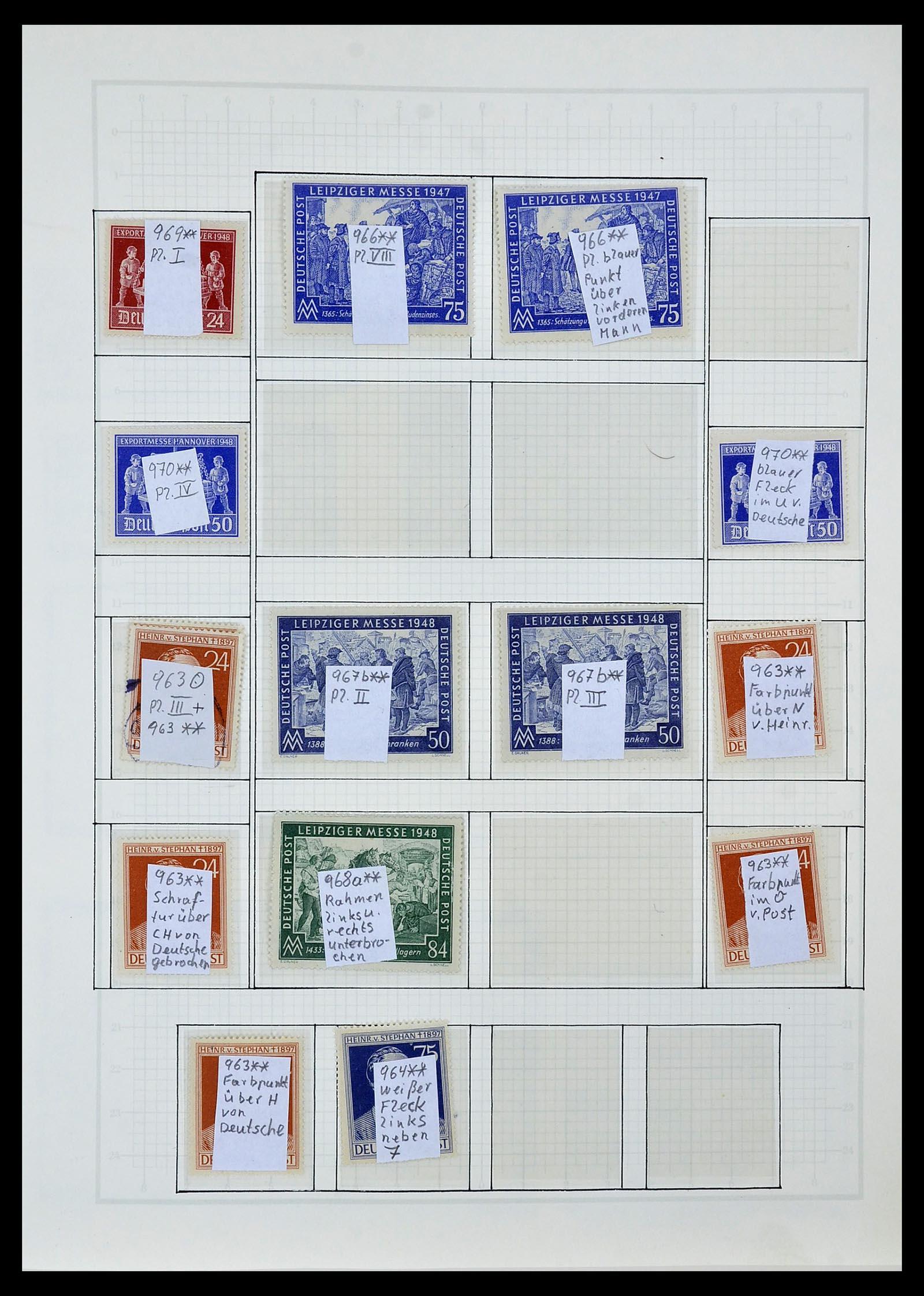 34152 005 - Postzegelverzameling 34152 Duitse Zones 1945-1949.
