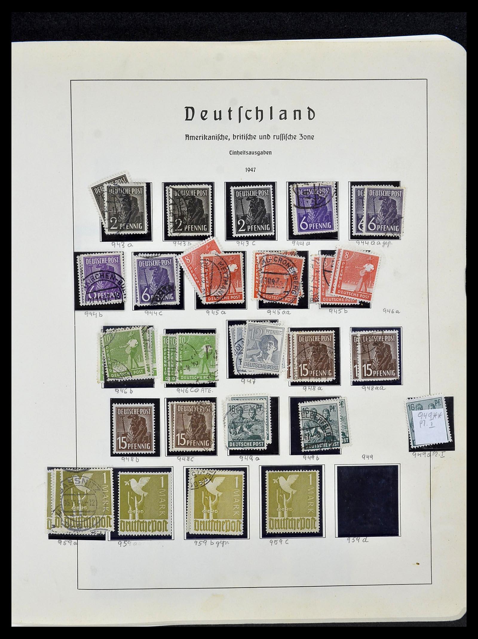 34152 009 - Postzegelverzameling 34152 Duitse Zones 1945-1949.