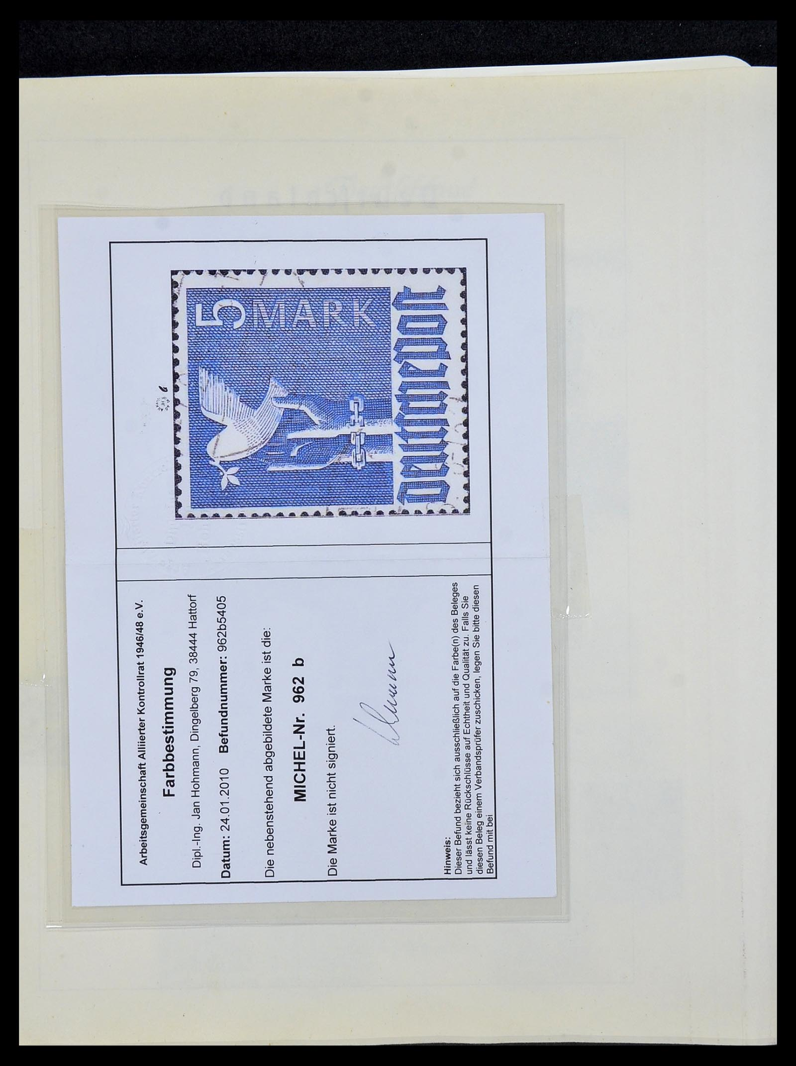 34152 010 - Postzegelverzameling 34152 Duitse Zones 1945-1949.