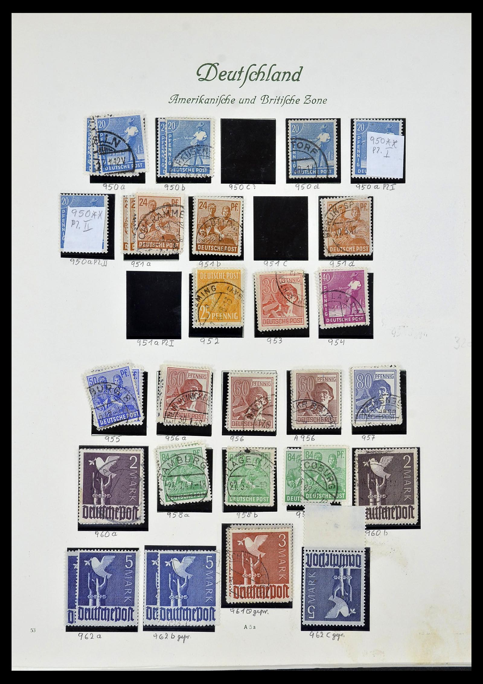34152 011 - Postzegelverzameling 34152 Duitse Zones 1945-1949.