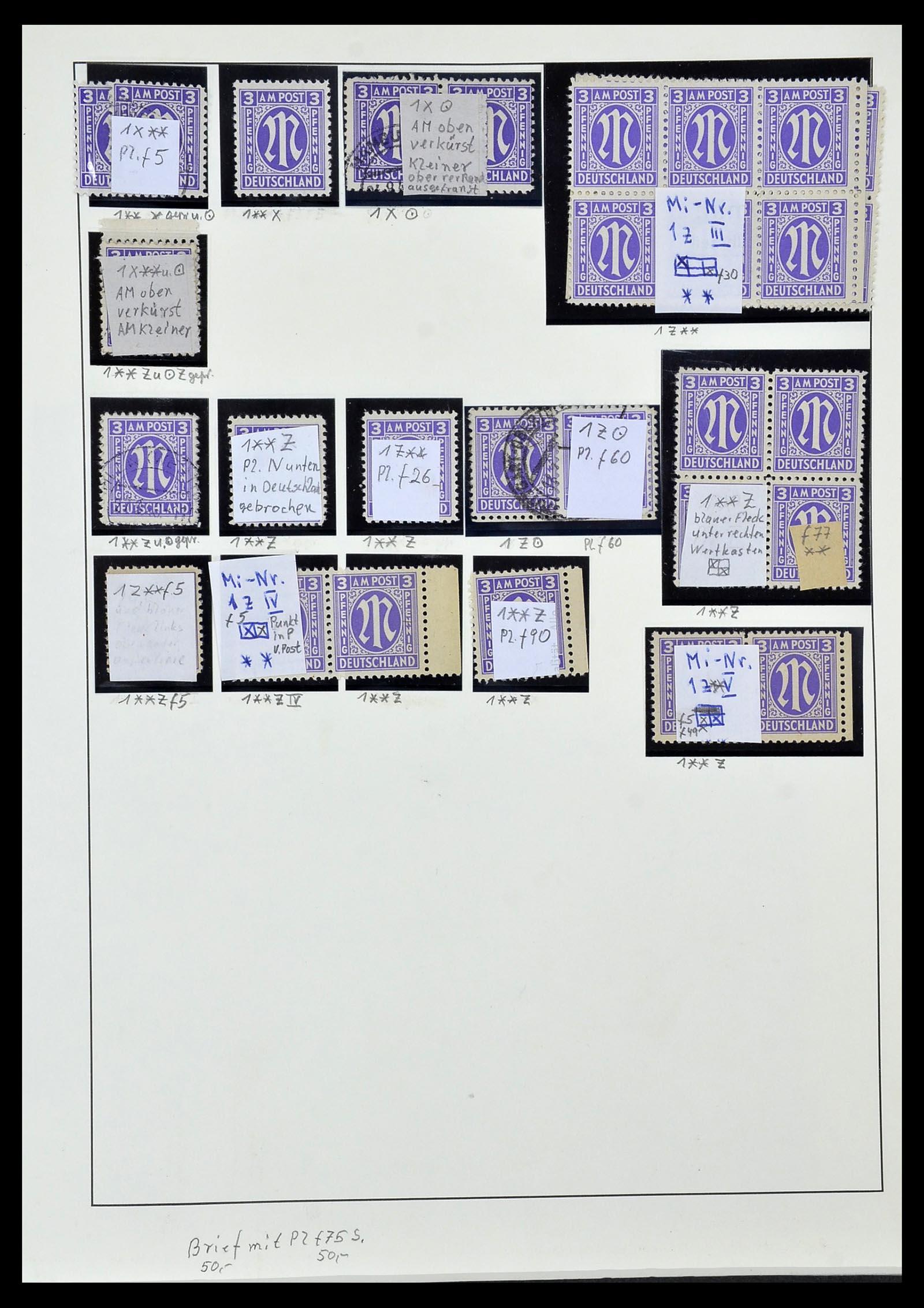 34152 012 - Postzegelverzameling 34152 Duitse Zones 1945-1949.
